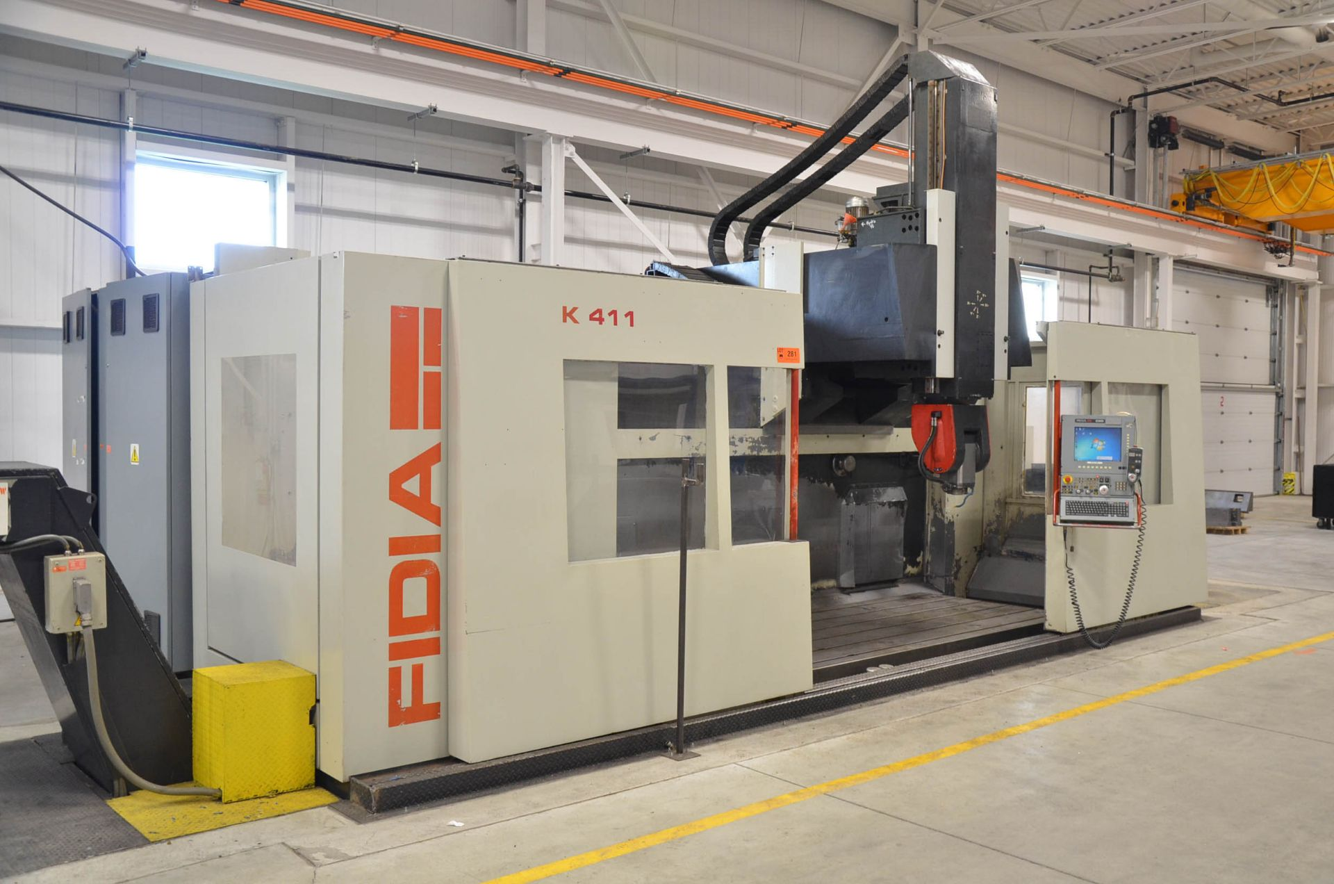 """FIDIA (2002) K 411 5-AXIS CNC VERTICAL MACHINING CENTER WITH FIDIA C20 CNC CONTROL, 59"""" X 197"""" - Image 2 of 11"""