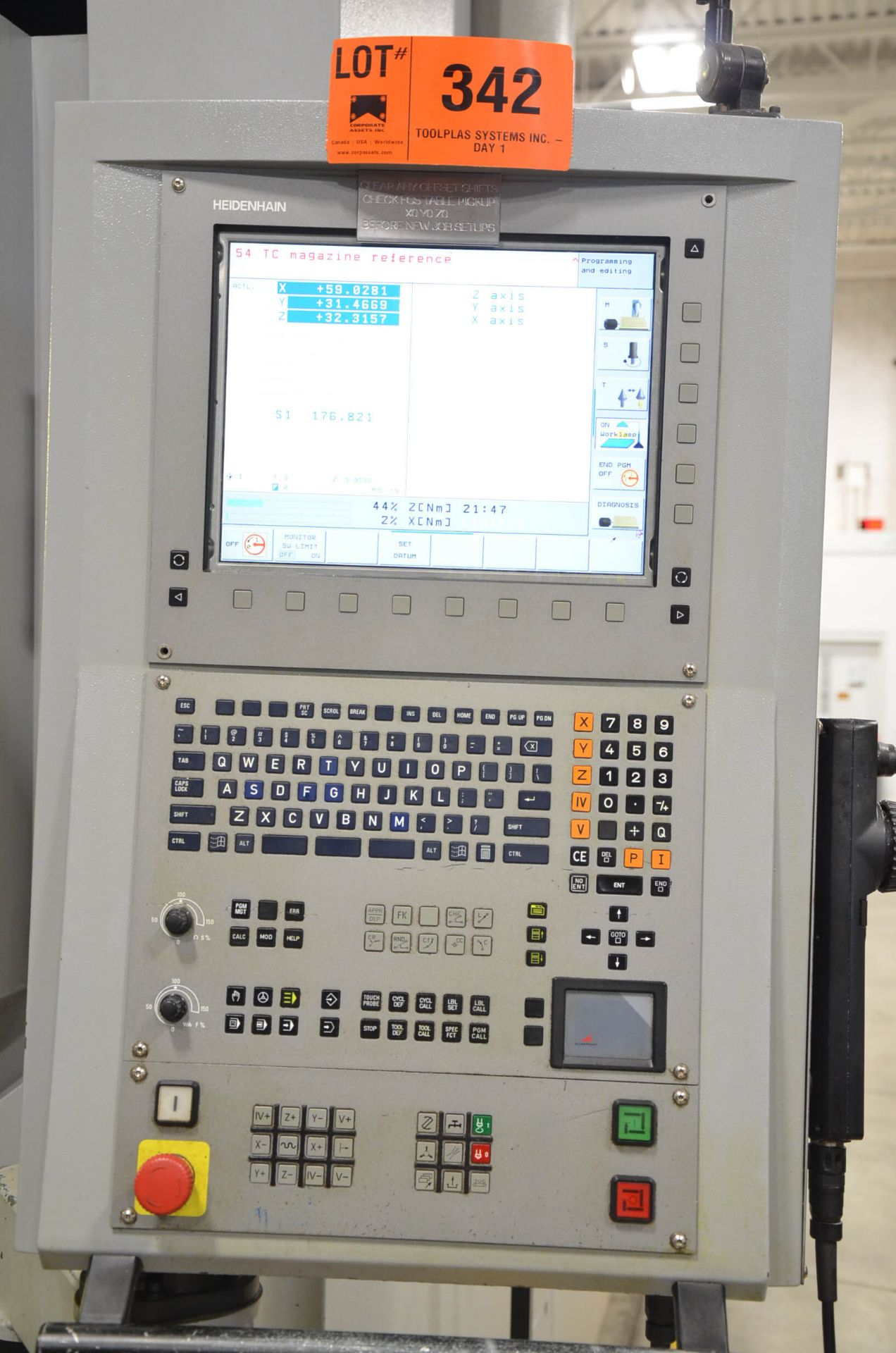 DYNAMIC SPEED (2010) GT-3016V GANTRY-TYPE VERTICAL MACHINING CENTER WITH HEIDENHAIN ITNC530 CNC - Image 7 of 12