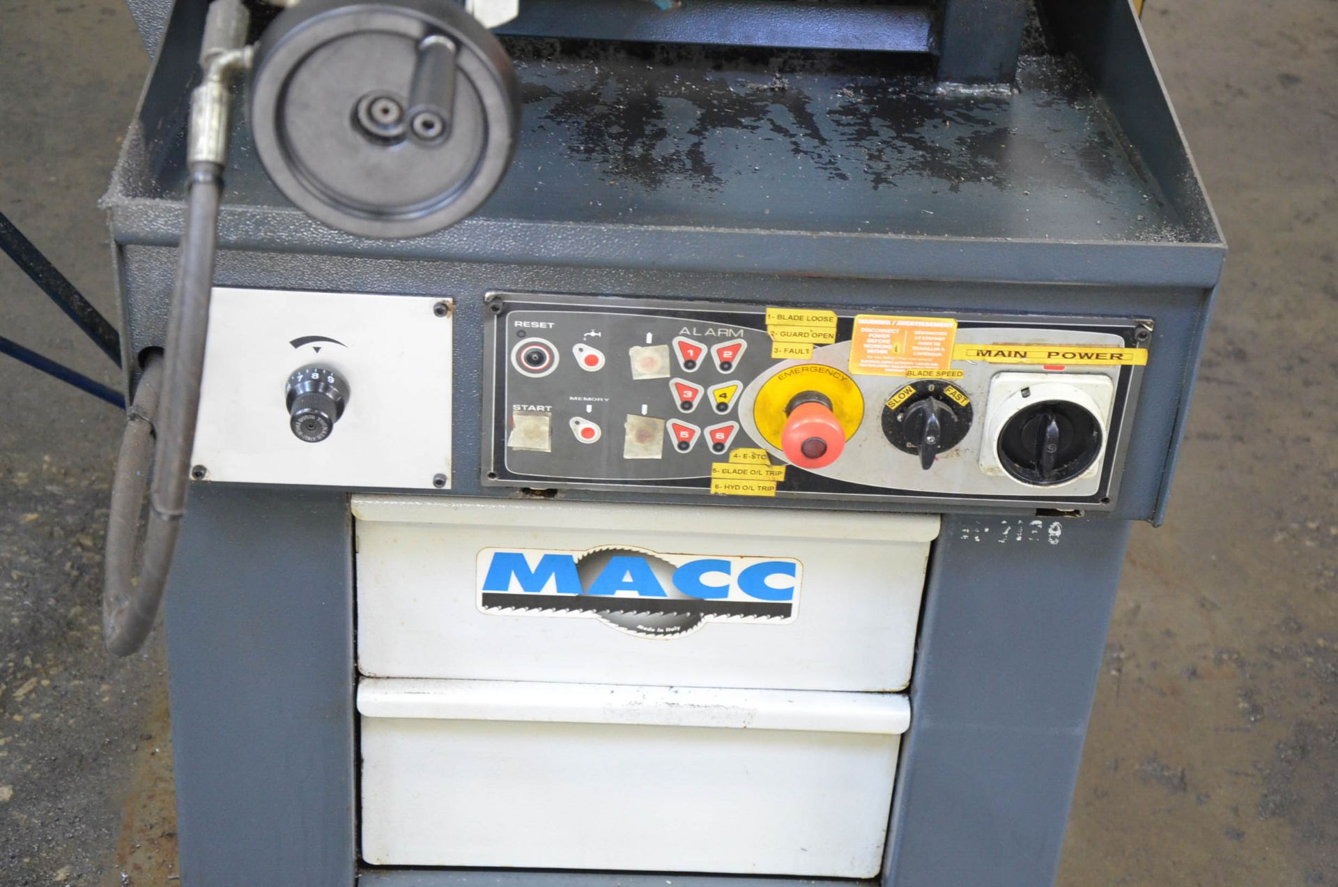 """MACC (2008) SPECIAL 400 SI 16"""" METAL CUTTING HORIZONTAL BAND SAW WITH MITER CAPABILITY, COOLANT, - Image 4 of 6"""