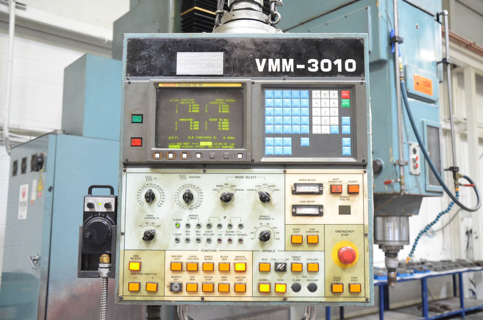"""KAFO VMM3010 CNC VERTICAL MILLING MACHINE WITH FANUC SERIES 15-M CNC CONTROL, 43""""X112"""" TABLE, - Image 5 of 6"""