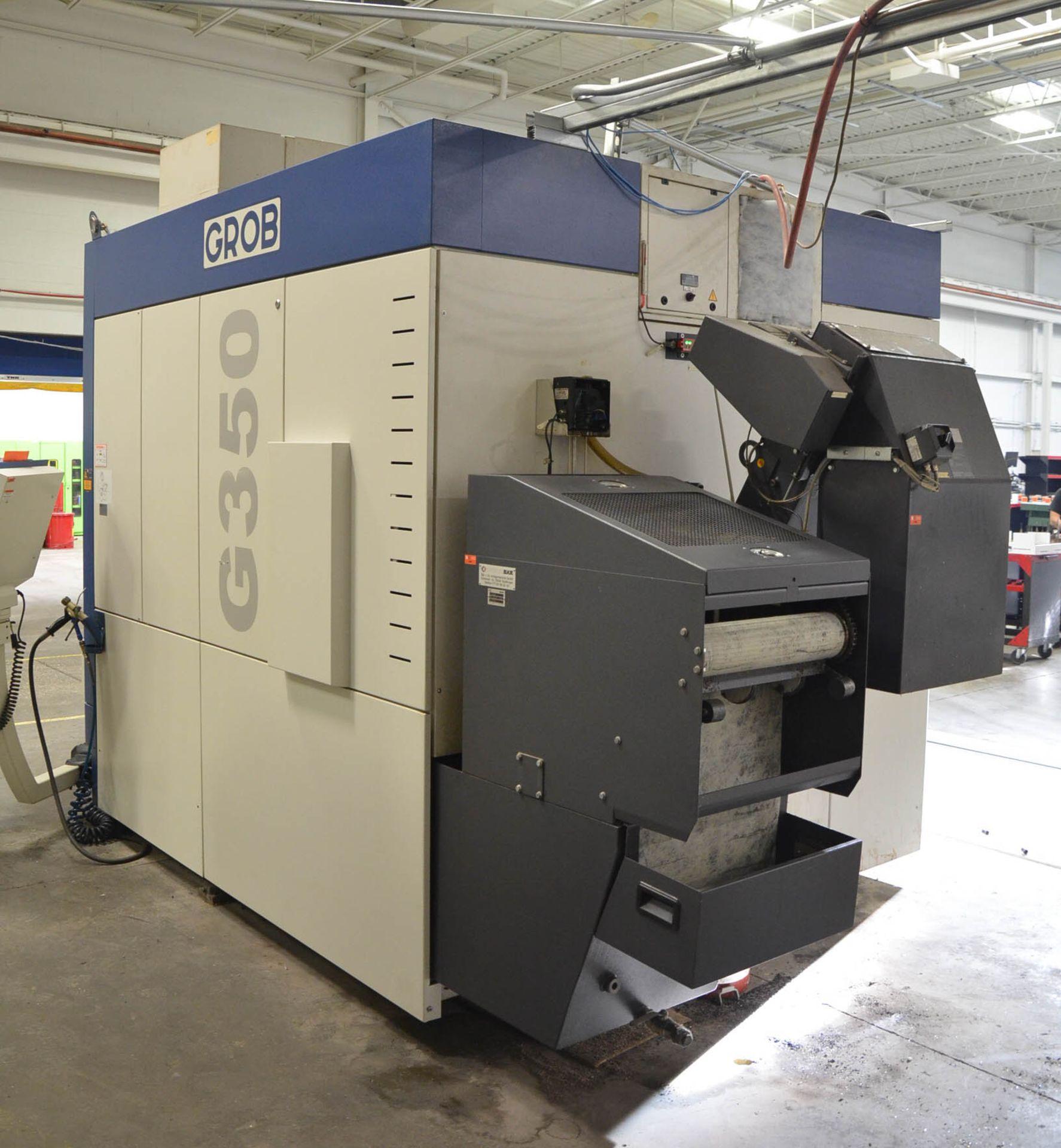 "GROB (2012) G350 5-AXIS CNC MACHINING CENTER WITH HEIDENHAIN ITNC 530 CNC CONTROL, 22.25"" DIAMETER - Image 9 of 12"