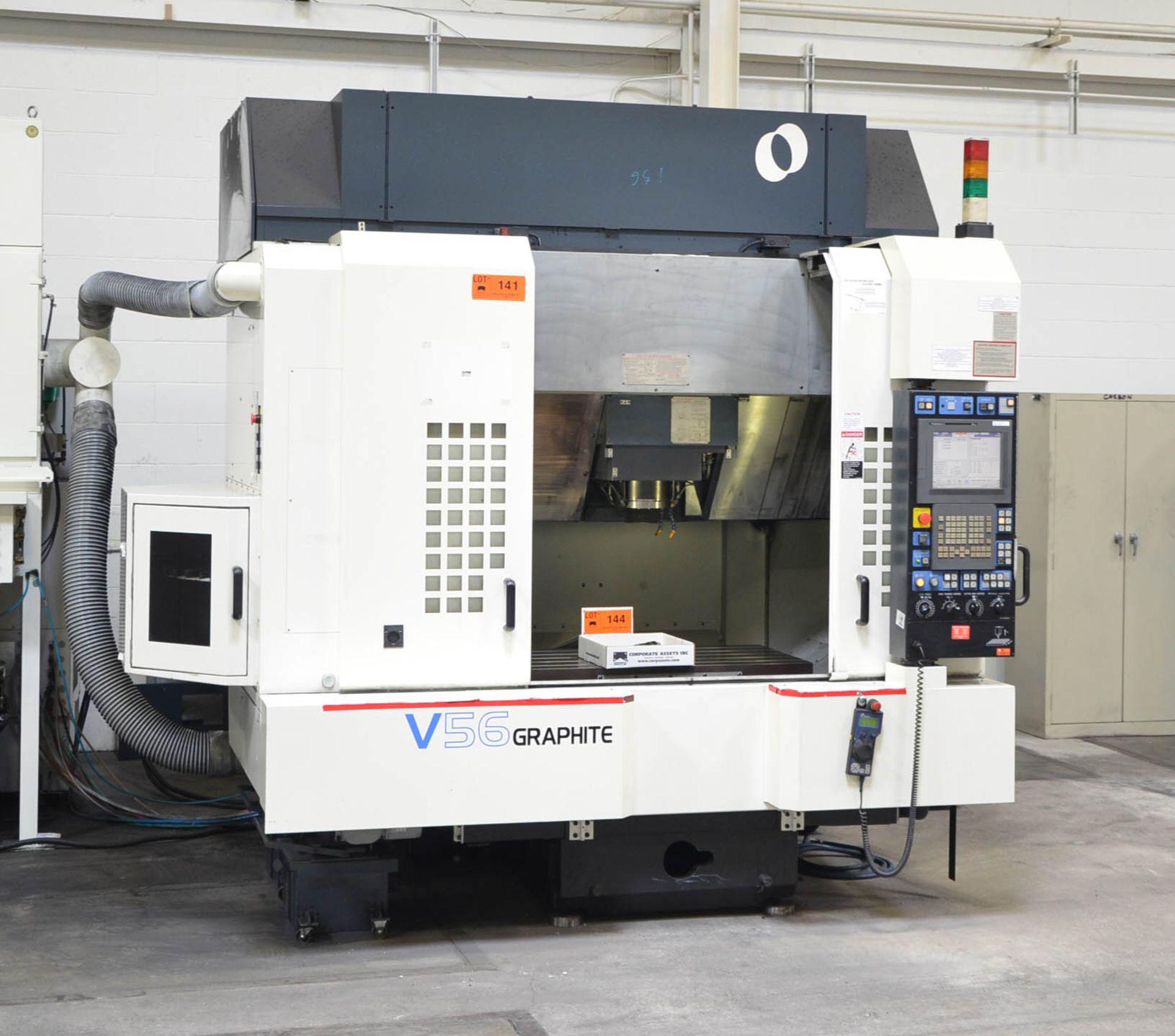 MAKINO (2008) V56 GRAPHITE CNC VERTICAL MACHINING CENTER WITH MAKINO PROFESSIONAL 5 TOUCHSCREEN - Image 3 of 10