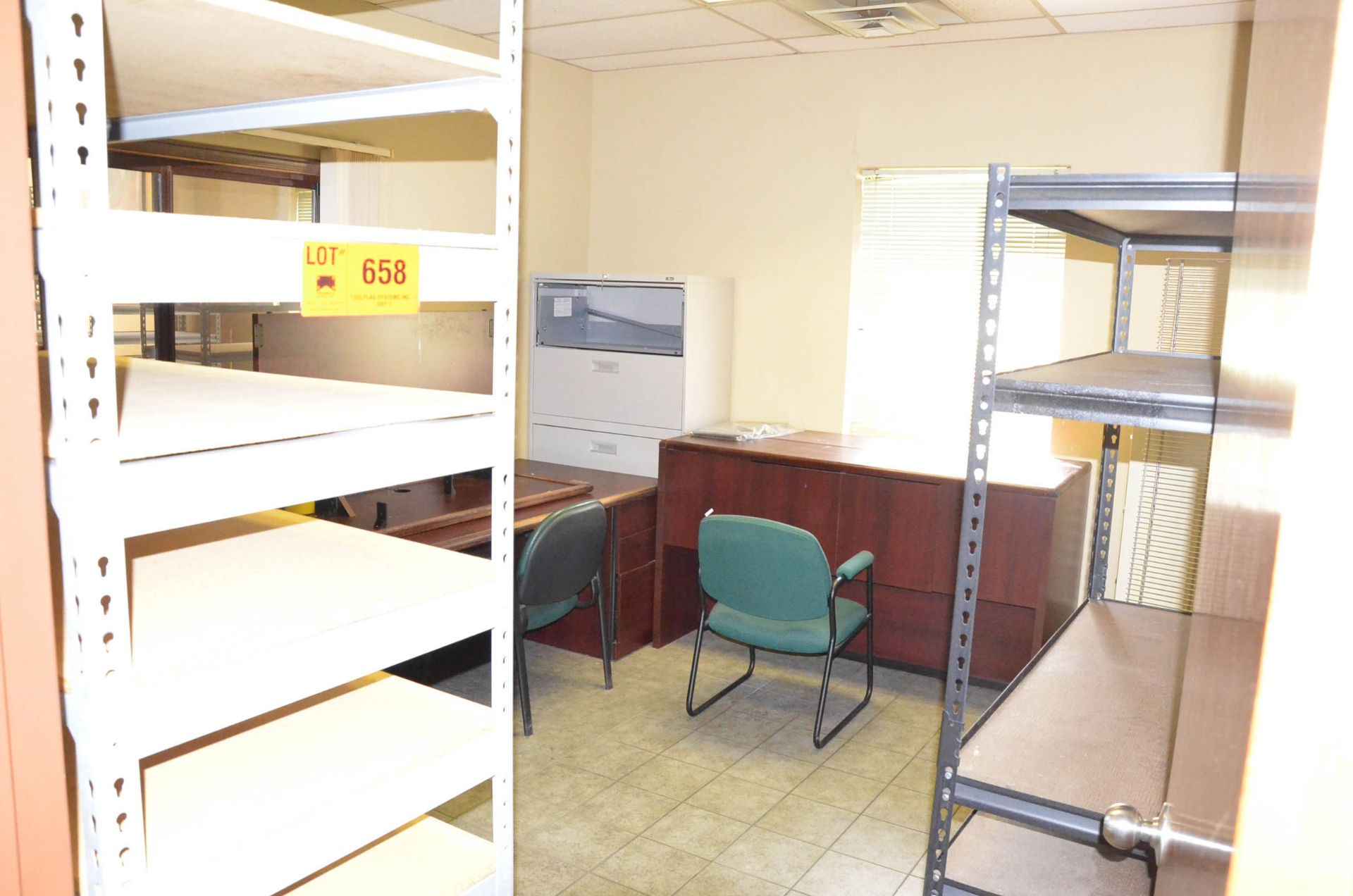LOT/ OFFICE FURNITURE - Image 2 of 2