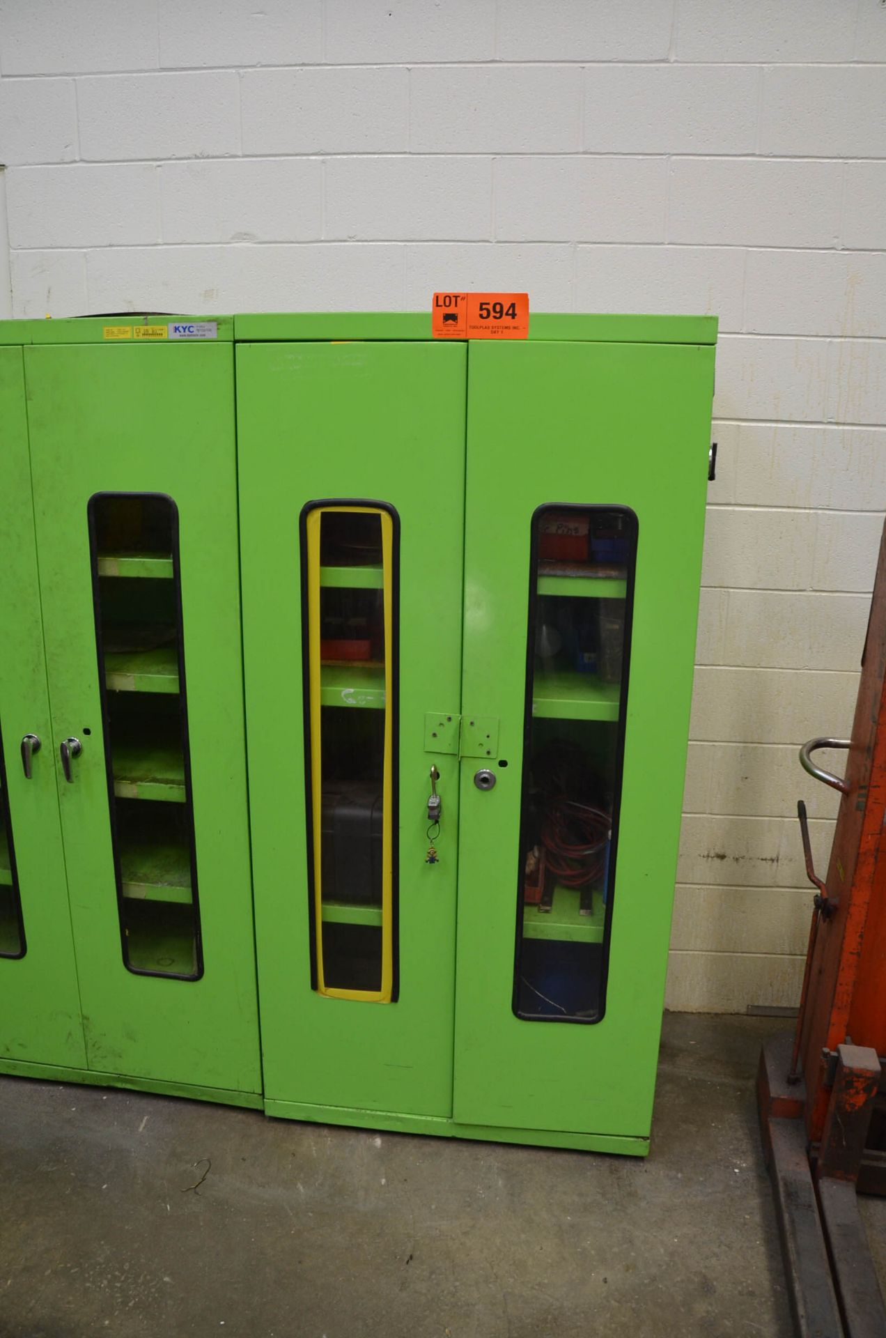 LOT/ CABINET WITH CONTENTS - PARTS AND CONSUMABLES - Image 2 of 2