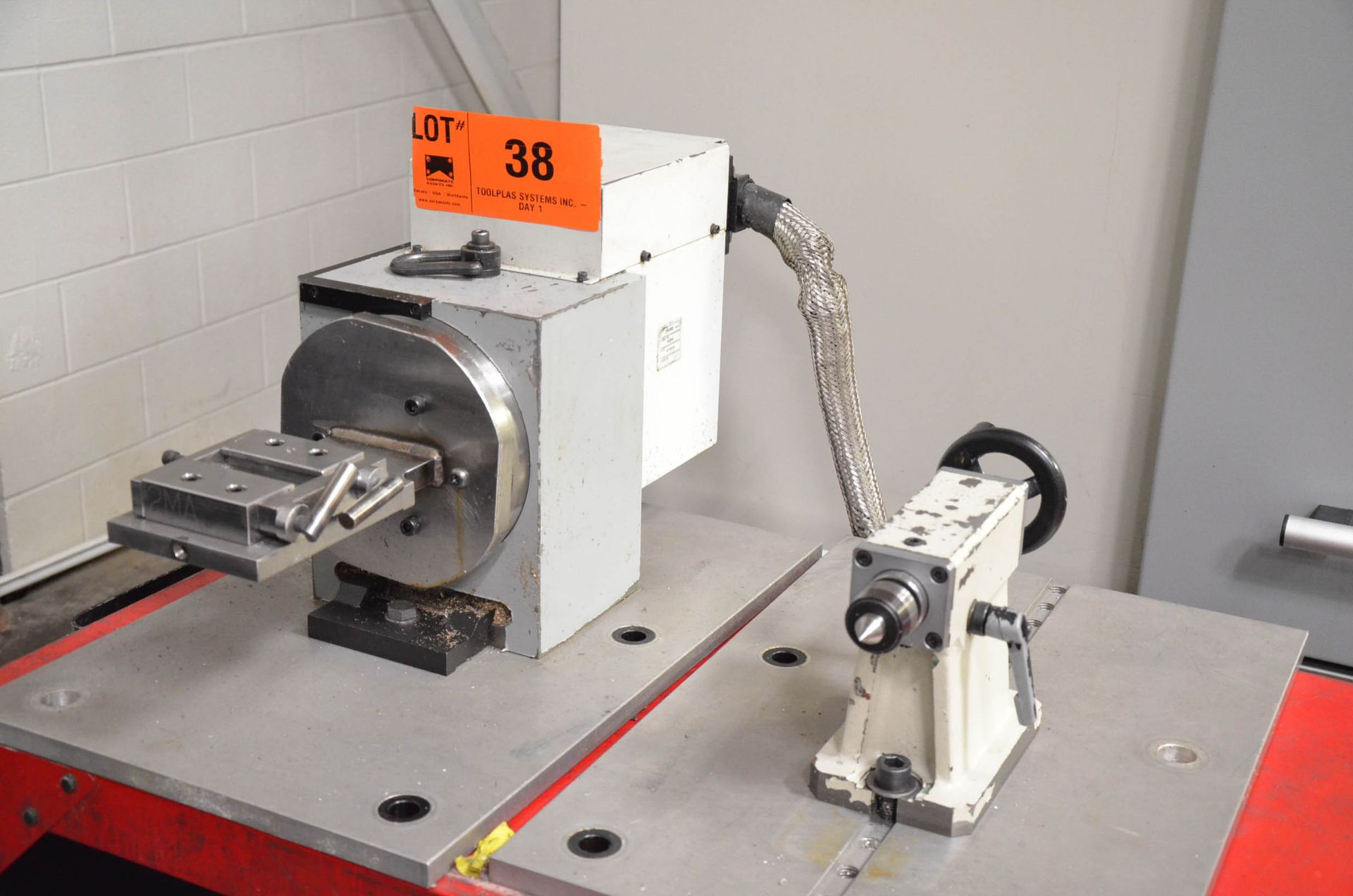 """SWI (2015) 28060 8"""" DIA. FOURTH AXIS ROTARY TABLE WITH TAIL STOCK, S/N 1034 [RIGGING FEES FOR LOT # - Image 2 of 3"""