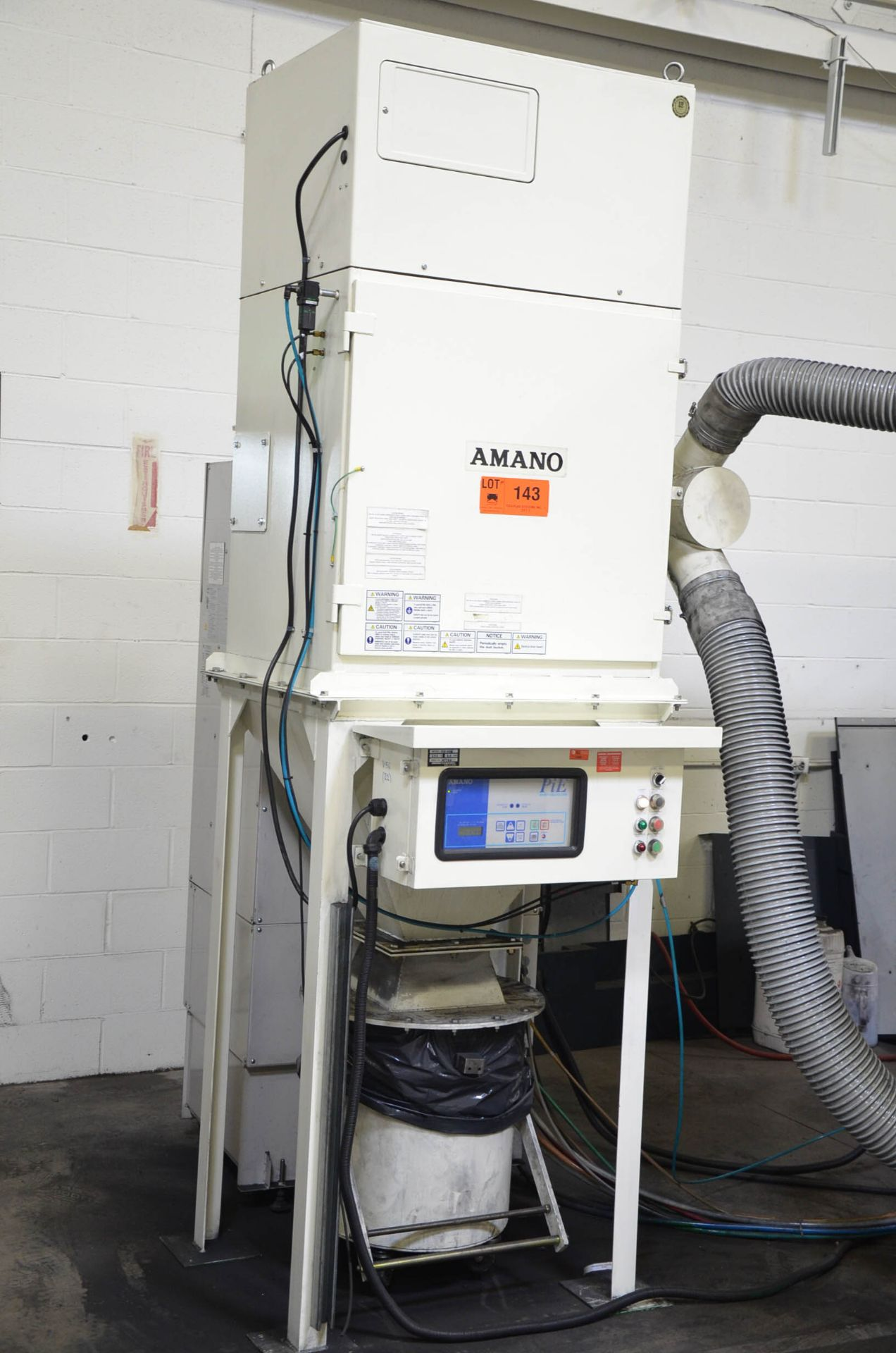 AMANO PIE-45M 3HP CYCLONIC-TYPE DUST COLLECTOR, 200V/3PH/60HZ, 47744 (CI) [RIGGING FEES FOR LOT #143