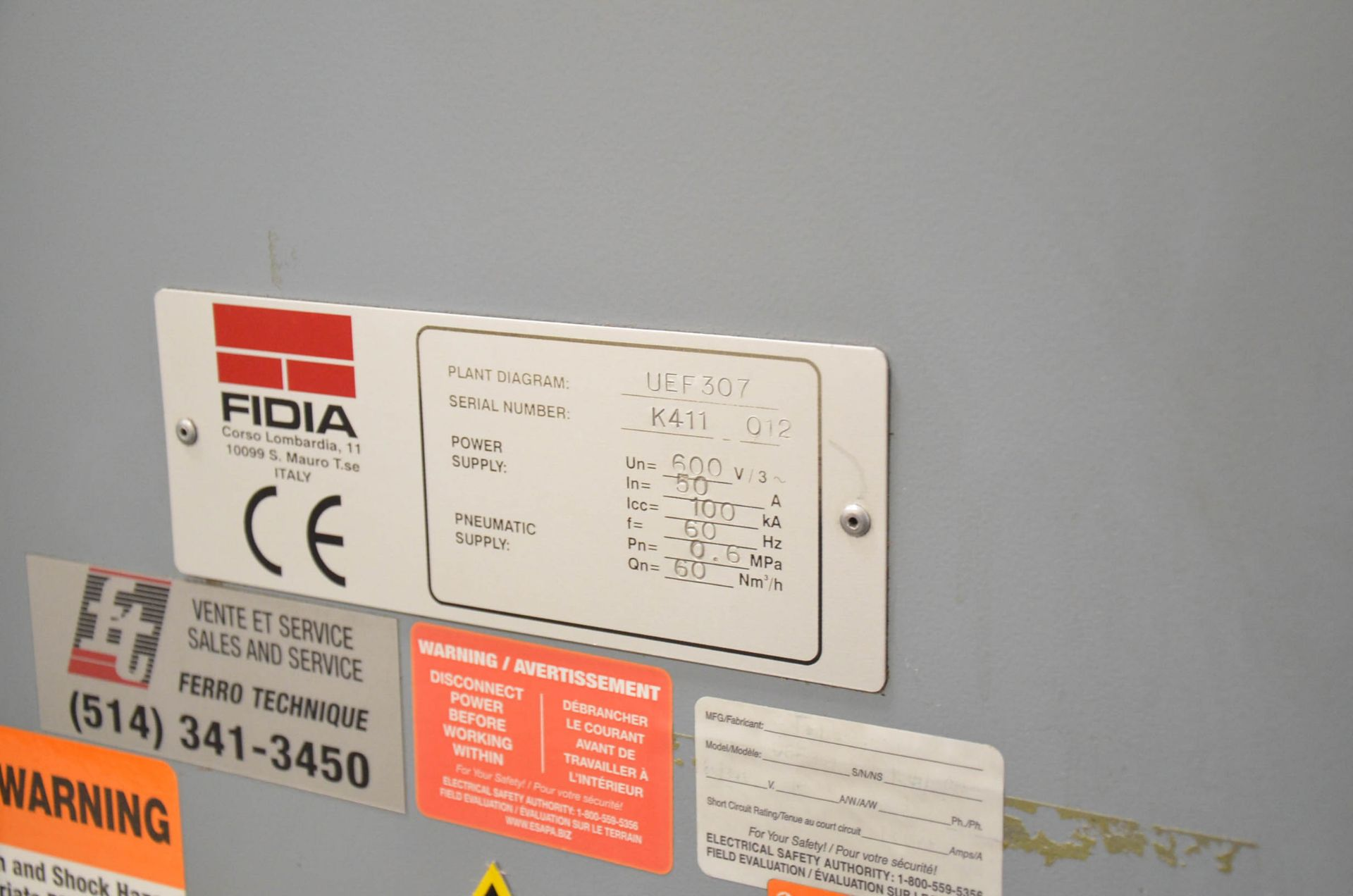 """FIDIA (2002) K 411 5-AXIS CNC VERTICAL MACHINING CENTER WITH FIDIA C20 CNC CONTROL, 59"""" X 197"""" - Image 11 of 11"""