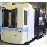 DOOSAN (2014) HC400 4-AXIS TWIN PALLET CNC HORIZONTAL MACHINING CENTER WITH SERIES 32I-MODEL B CNC