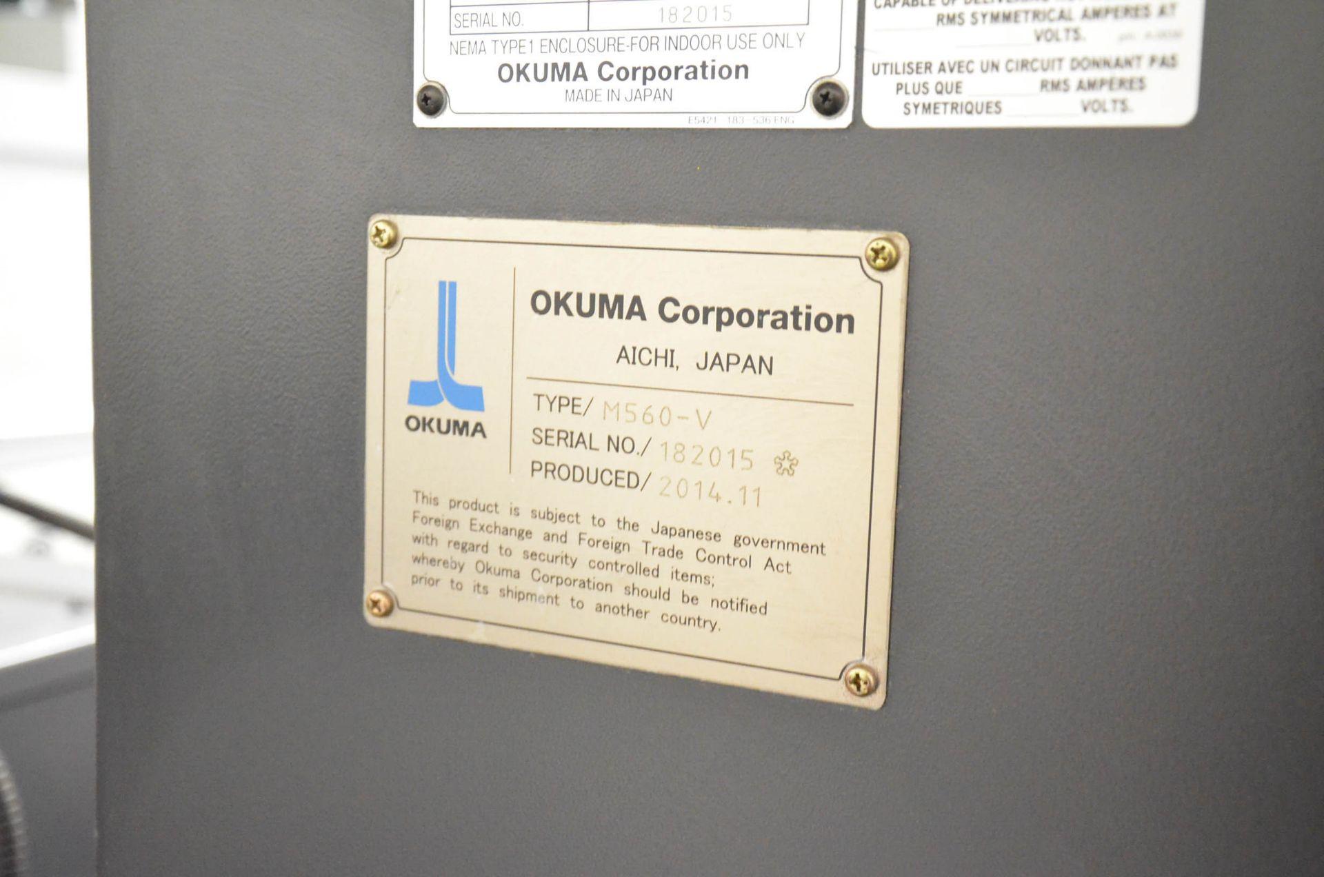 """OKUMA (DEC-2014) GENOS M560-V CNC VERTICAL MACHINING CENTER WITH OKUMA OSP-P300M CNC CONTROL, 22"""" - Image 12 of 12"""