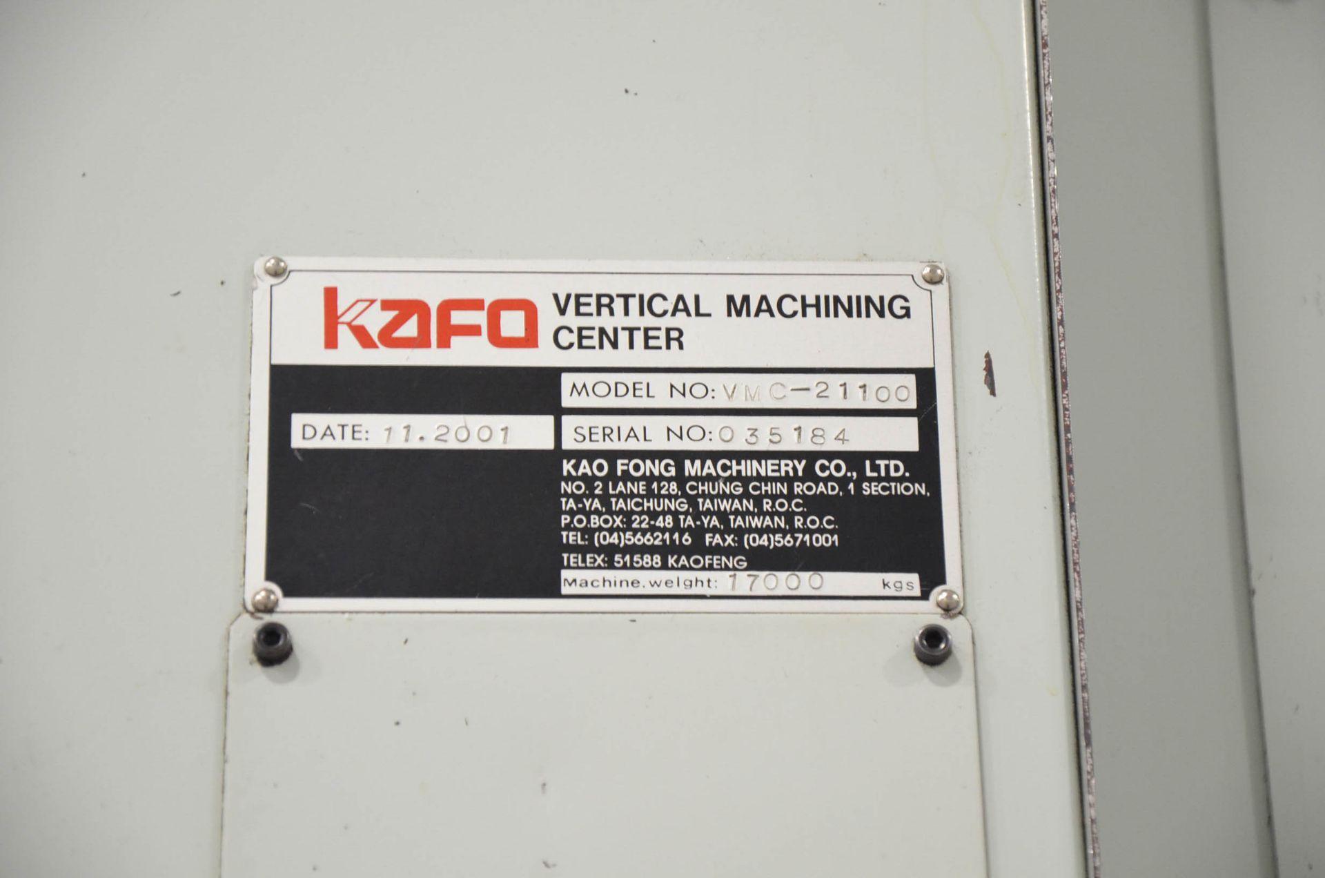 "PHOENIX KAFO (2001) VMC-21100 CNC VERTICAL MACHINING CENTER WITH HEIDENHAIN CNC CONTROL, 39""X94"" - Image 4 of 7"