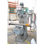 """KONDIA POWERMILL TYPE FV-1 VERTICAL TURRET MILLING MACHINE WITH 9""""X42"""" TABLE, SPEEDS TO 4,000RPM,"""