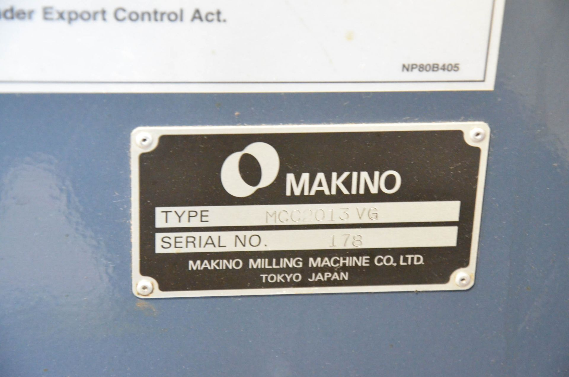 "MAKINO (2013) MCC2013 VG 6-AXIS CNC MACHINING CENTER WITH MAKINO PROFESSIONAL 5 CNC CONTROL, 59"" X - Image 5 of 11"