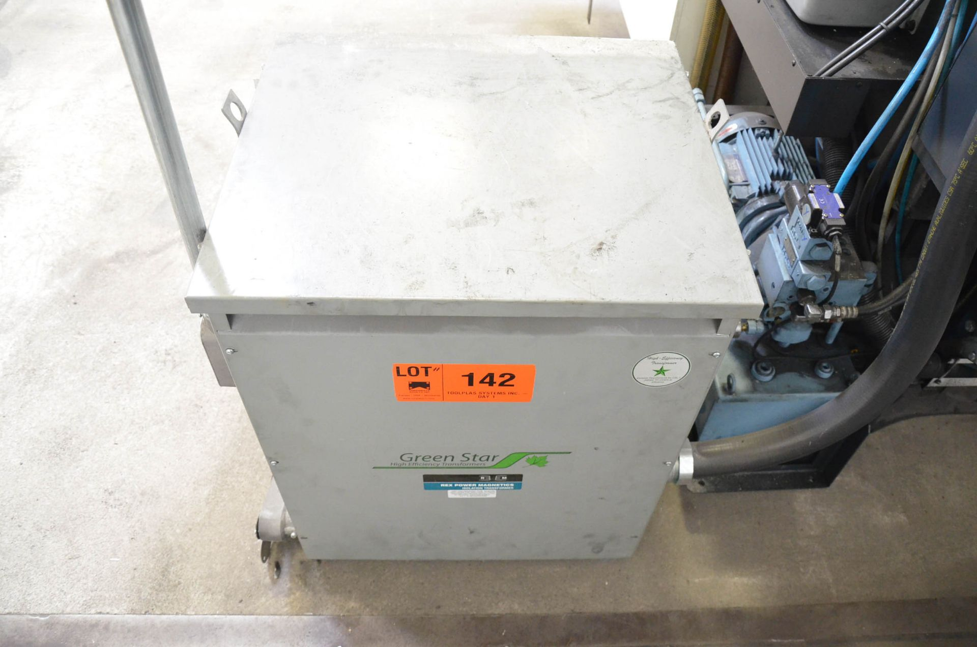 REX 75KVA/600-208V/3PH/60HZ TRANSFORMER (CI) [RIGGING FEES FOR LOT #142 - $50 USD PLUS APPLICABLE