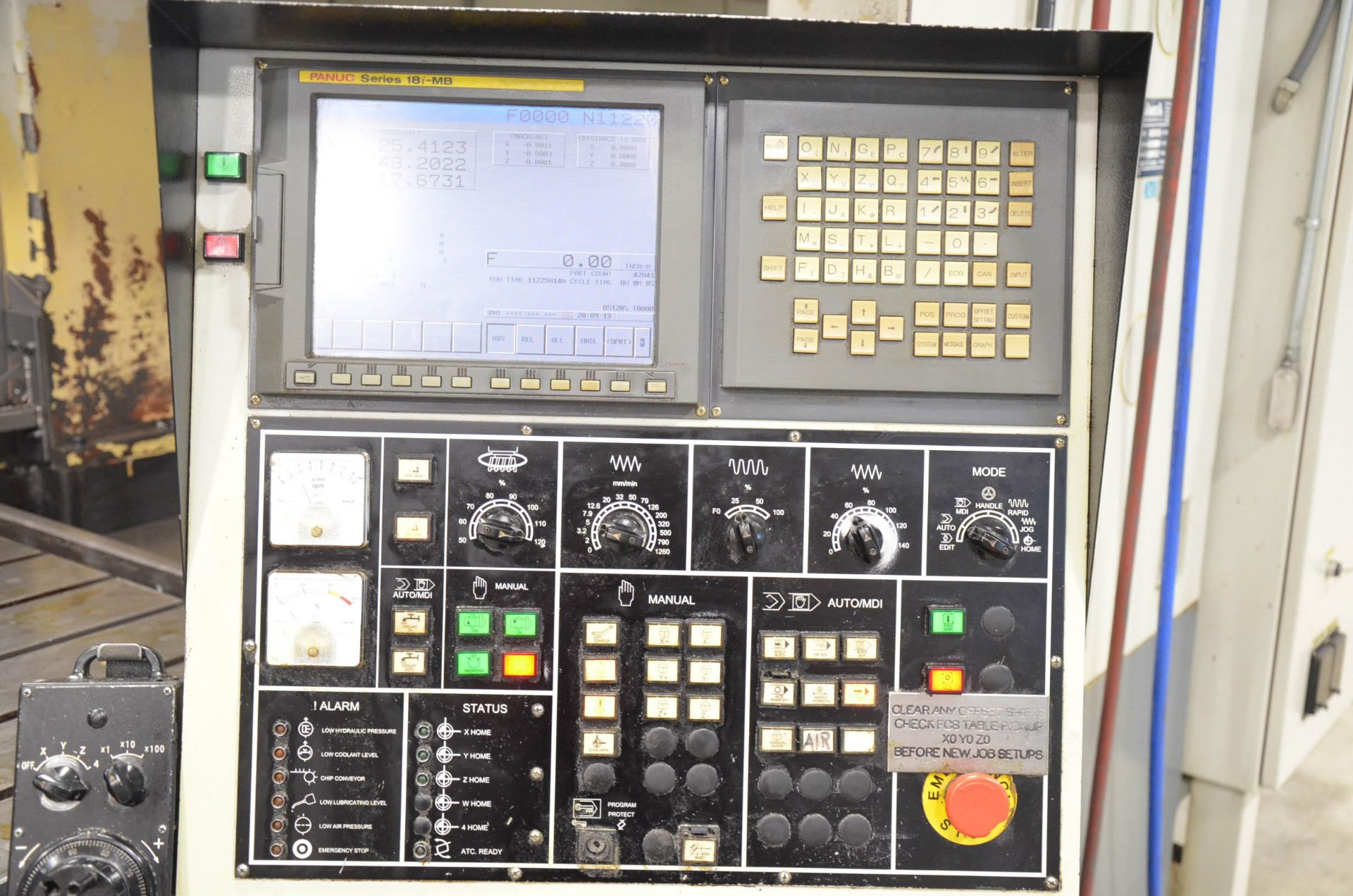 AWEA (2005) SP3016HSS GANTRY-TYPE CNC VERTICAL MACHINING CENTER WITH FANUC SERIES 18I-MB CNC - Image 11 of 12