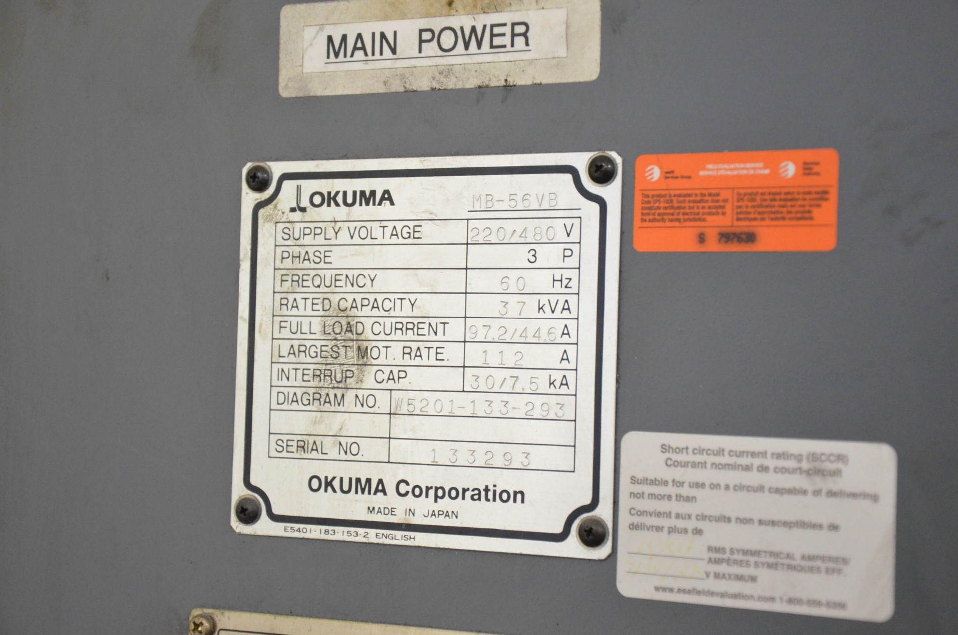 OKUMA (2007) ACE CENTER MB-56VB CNC VERTICAL MACHINING CENTER WITH OKUMA OSP-P200M CNC CONTROL, - Image 10 of 11