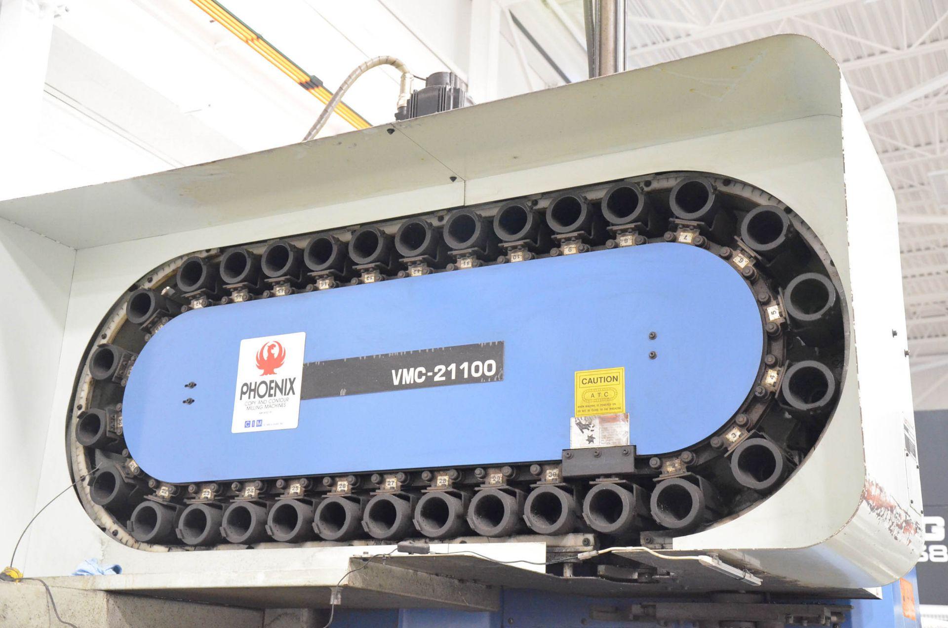 "PHOENIX KAFO (2001) VMC-21100 CNC VERTICAL MACHINING CENTER WITH HEIDENHAIN CNC CONTROL, 39""X94"" - Image 5 of 7"