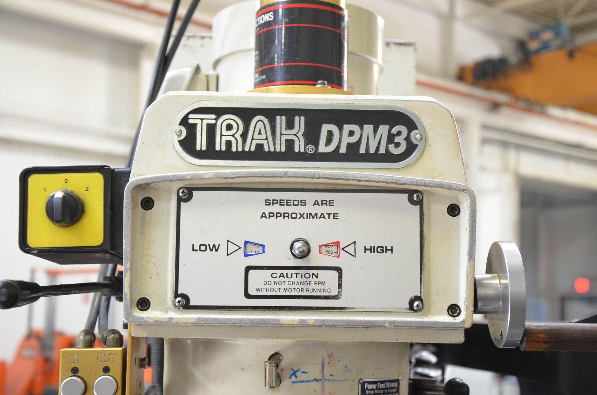 "TRAK DPM3 CNC VERTICAL TURRET MILLING MACHINE WITH PROTO TRAK (2007) SMX CNC CONTROL, 10"" X 50"" - Image 3 of 7"