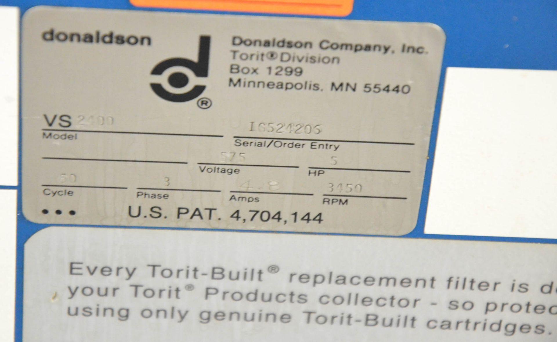 DONALDSON TORIT VS2400 5HP FLOOR-TYPE DUST COLLECTOR, 575V/3PH/60HZ, S/N: IG524206 (CI) [RIGGING - Image 3 of 3