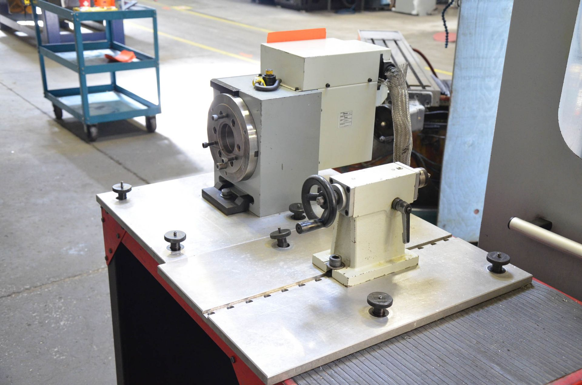 """SWI (2014) 28060 8"""" DIA. FOURTH AXIS ROTARY TABLE WITH TAIL STOCK, SOUTHWESTERN TOOL CART, S/N - Image 3 of 3"""