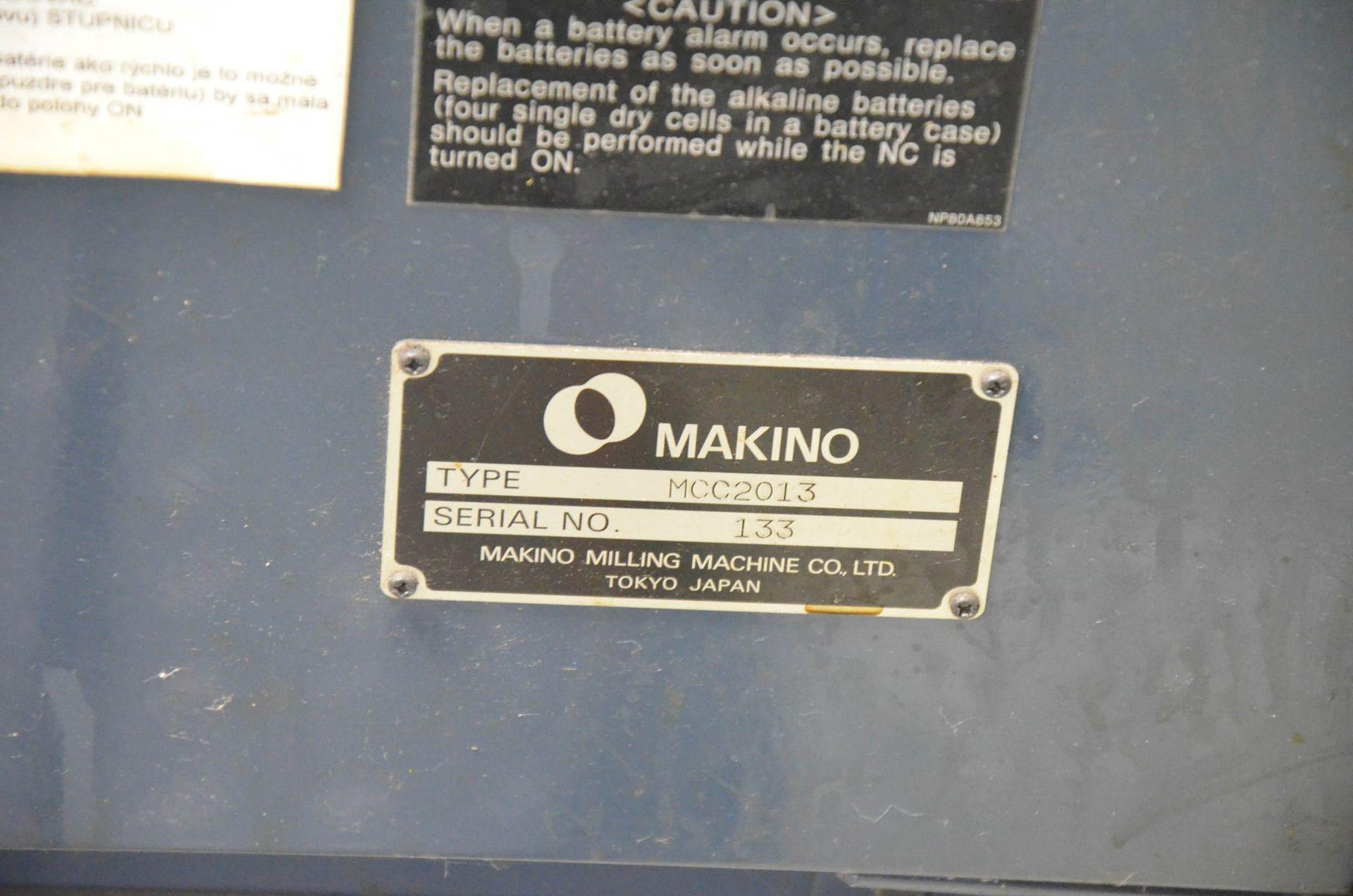 MAKINO (2008) MCC2013 4-AXIS HORIZONTAL MACHINING CENTER WITH MAKINO PROFESSIONAL 5 CNC CONTROL, - Image 5 of 12