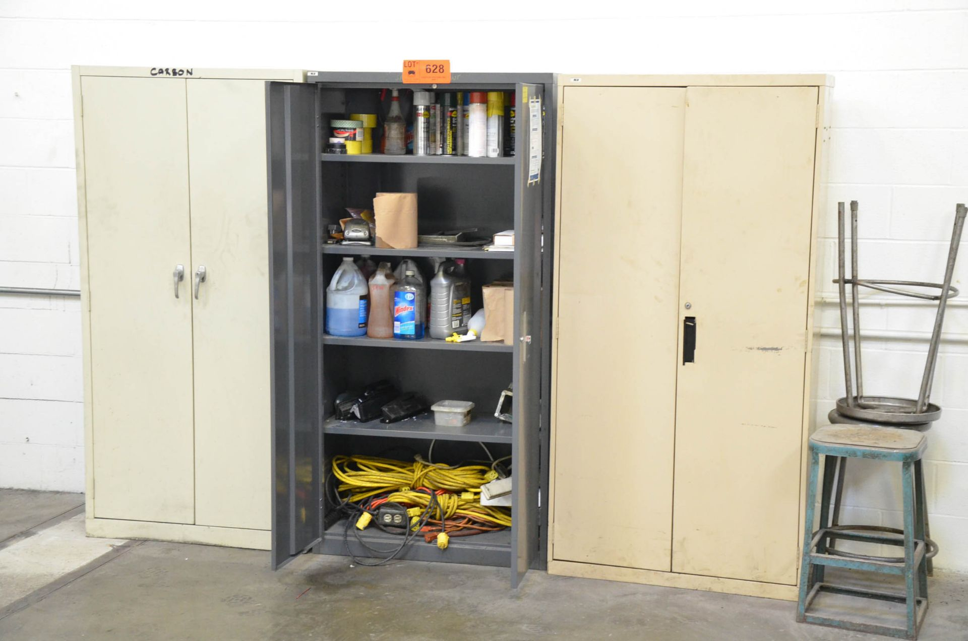 LOT/ (3) HIBOY CABINETS WITH CONTENTS - SUPPLIES