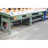 LOT/ (5) WORKBENCHES WITH (2) SHOP CARTS