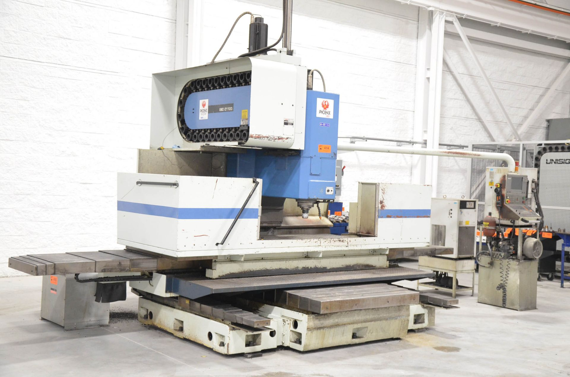 "PHOENIX KAFO (2001) VMC-21100 CNC VERTICAL MACHINING CENTER WITH HEIDENHAIN CNC CONTROL, 39""X94"""