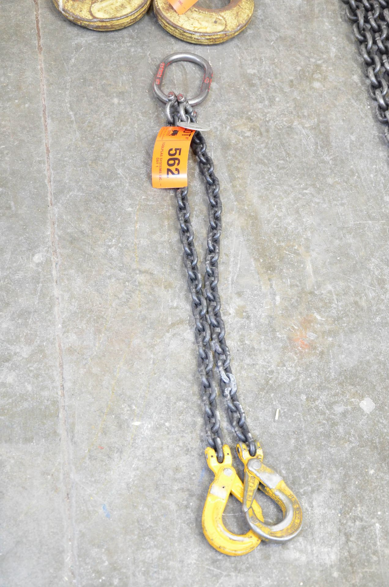 """3/8"""" x 4' 2-PART LIFTING CHAIN WITH 12,000 LBS CAP"""