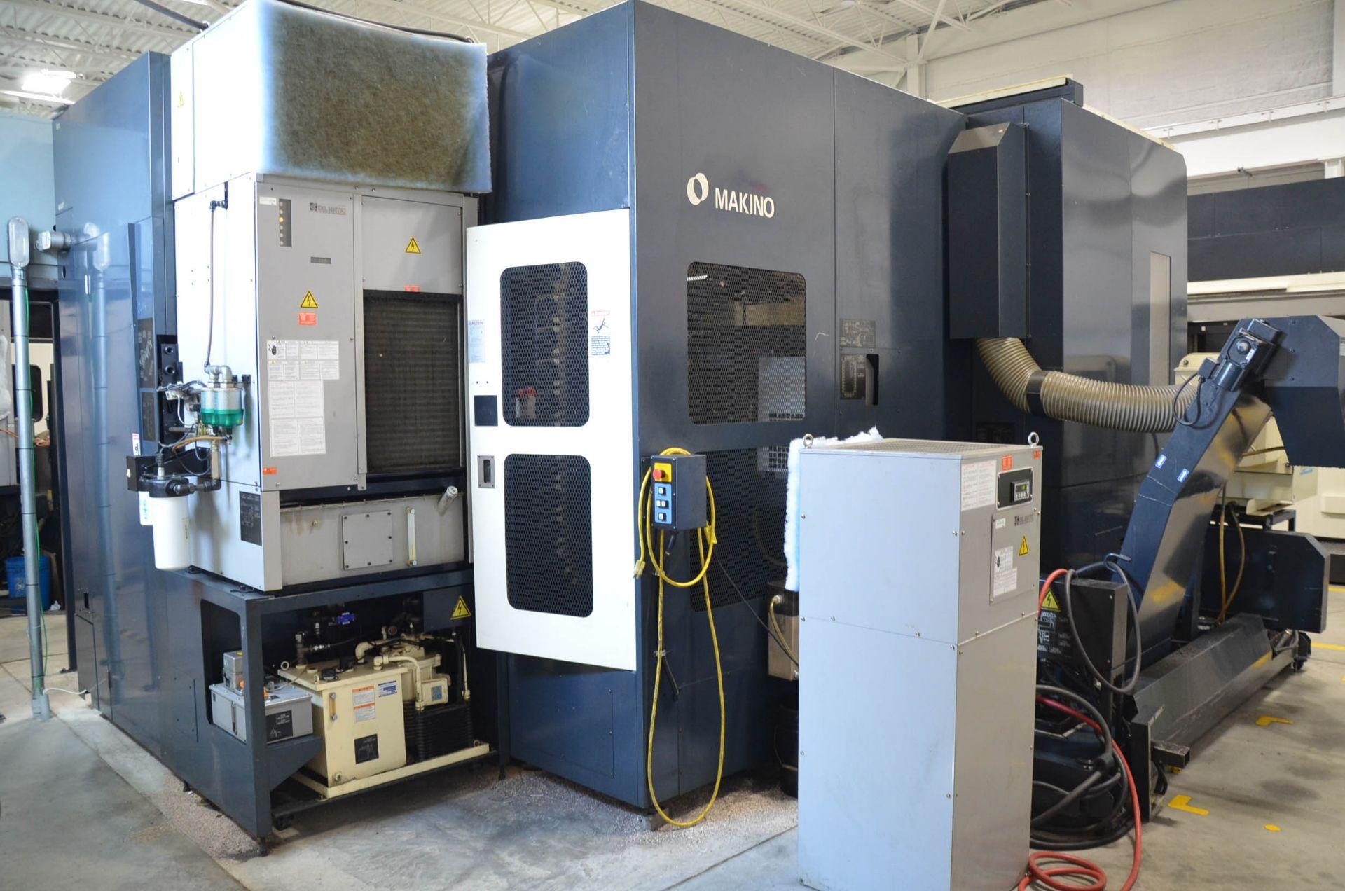MAKINO (2008) MCC2013 4-AXIS HORIZONTAL MACHINING CENTER WITH MAKINO PROFESSIONAL 5 CNC CONTROL, - Image 7 of 12