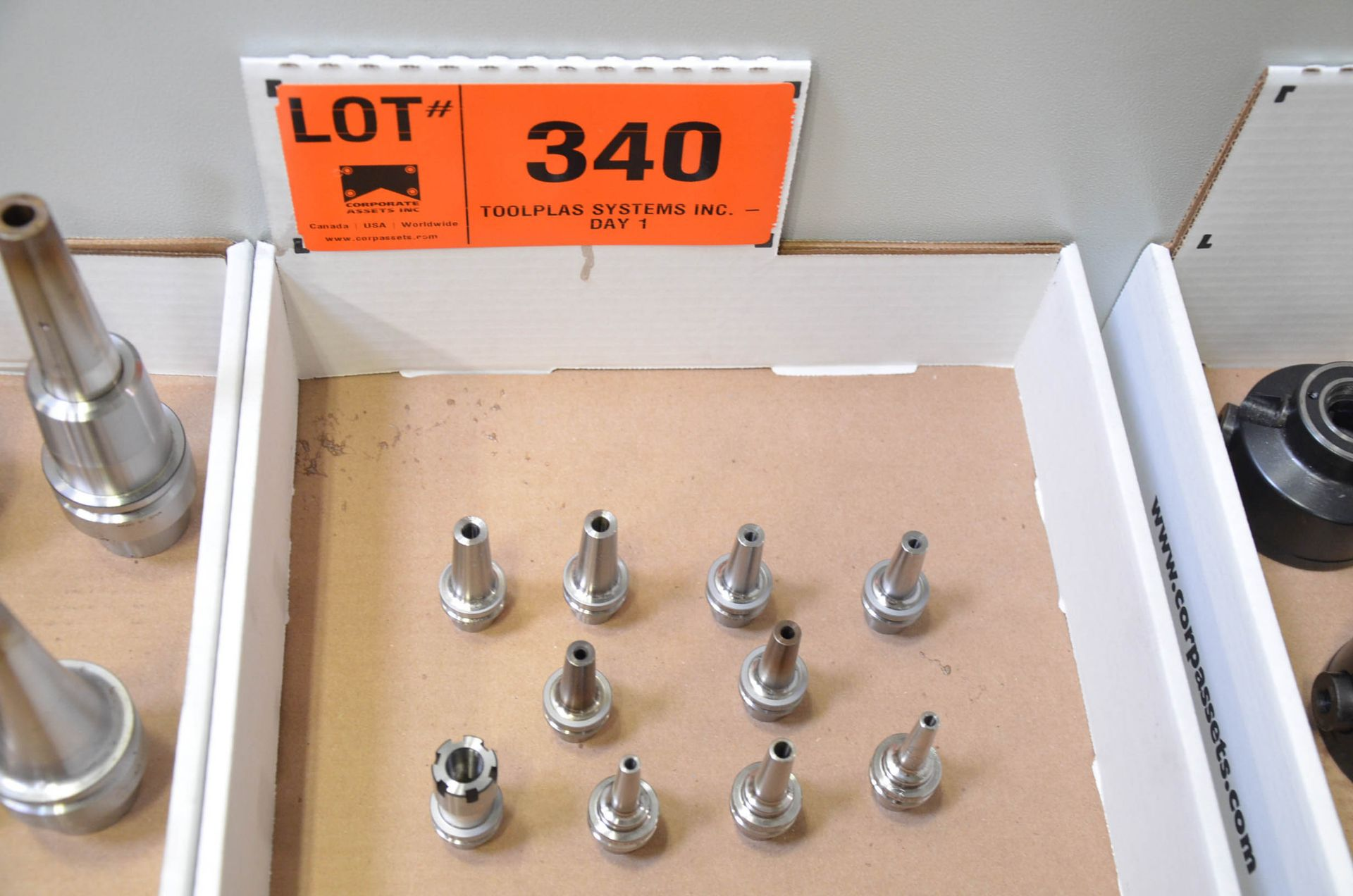 LOT/ (10) HSK-E25 TOOL HOLDERS