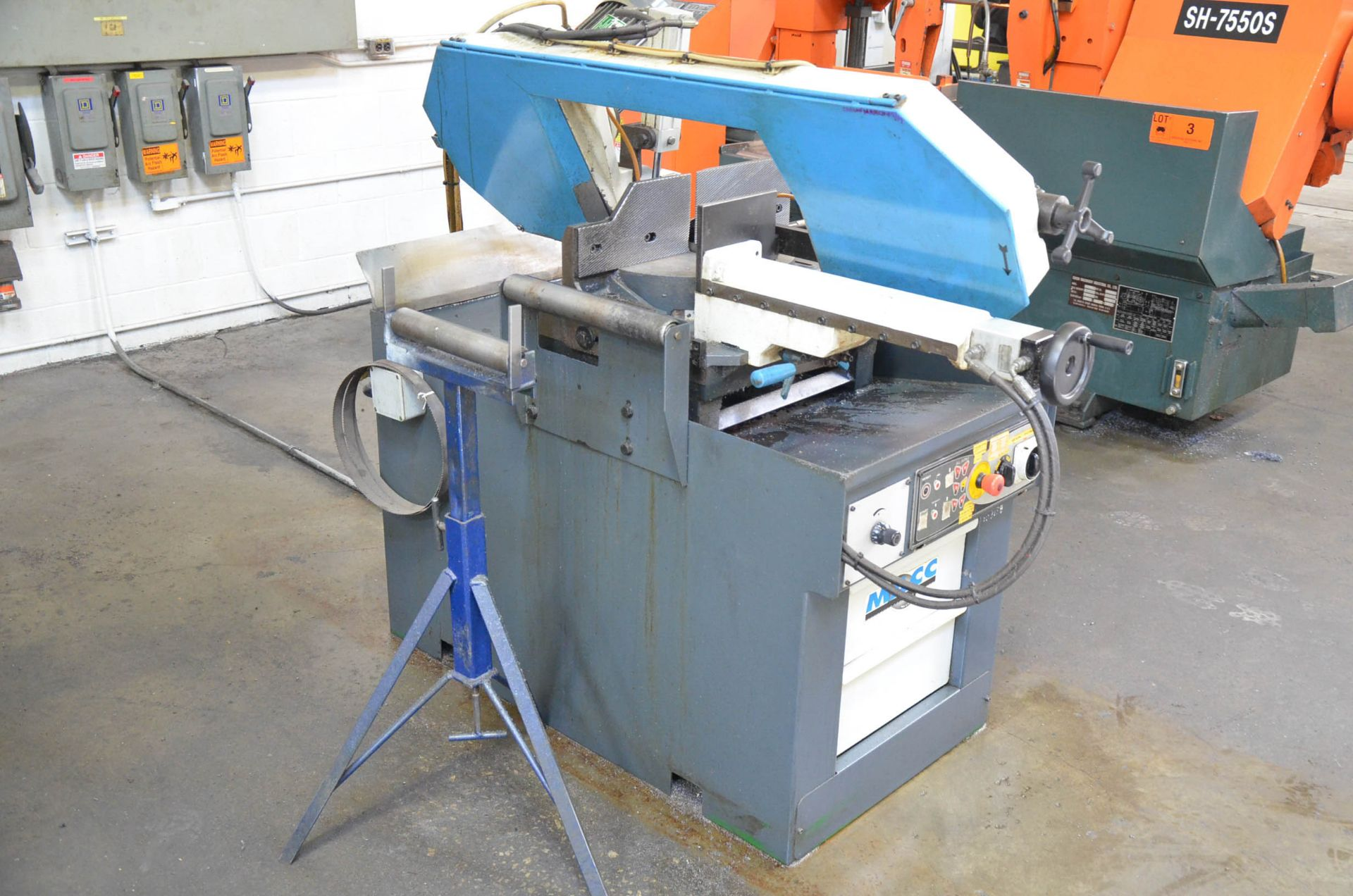 """MACC (2008) SPECIAL 400 SI 16"""" METAL CUTTING HORIZONTAL BAND SAW WITH MITER CAPABILITY, COOLANT, - Image 3 of 6"""