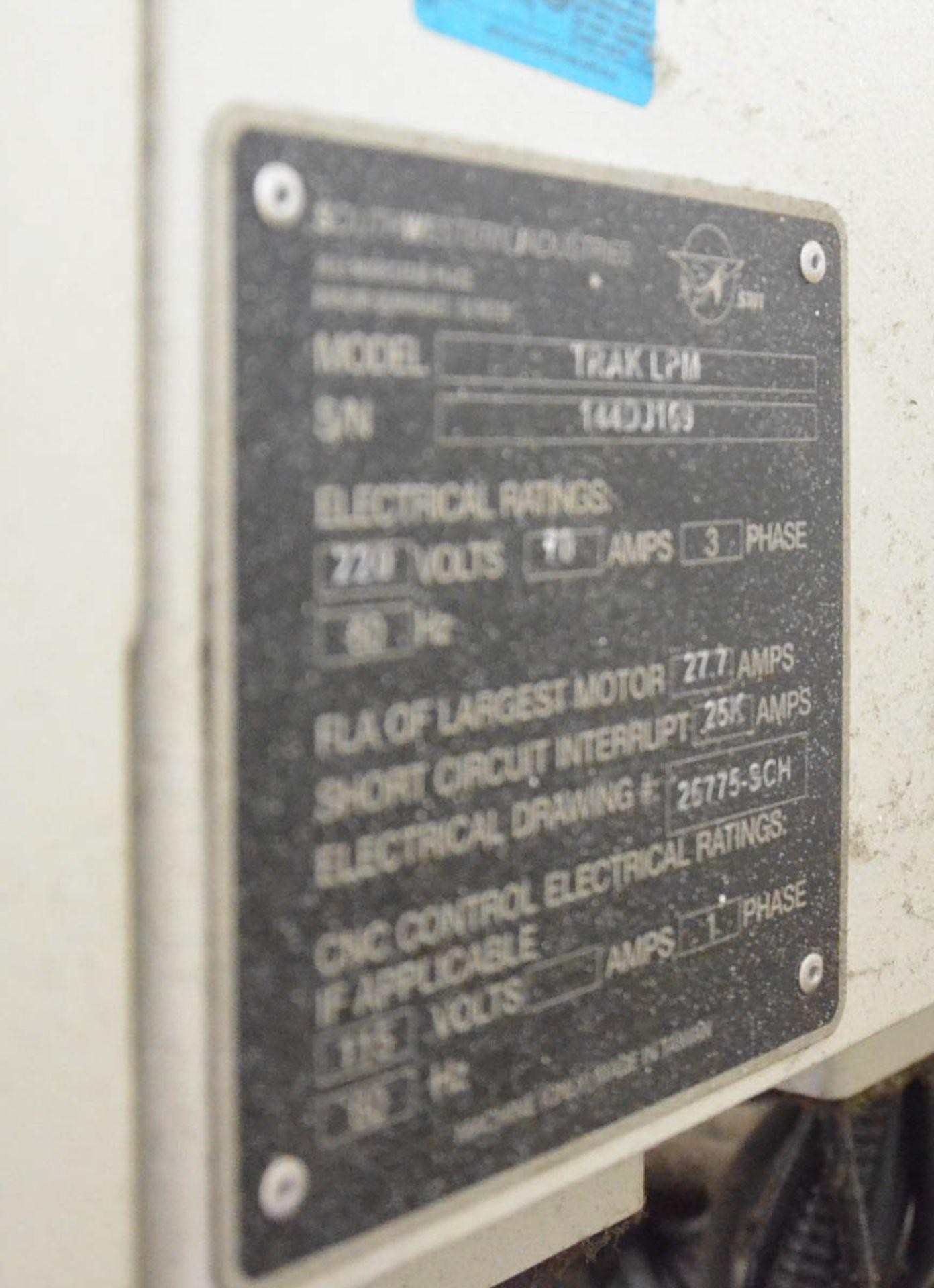 "SWI (2014) TRAK LPM CNC VERTICAL MACHINING CENTER WITH PROTO TRAK PMX CNC CONTROL, 19.5"" X 35.5"" - Image 4 of 9"