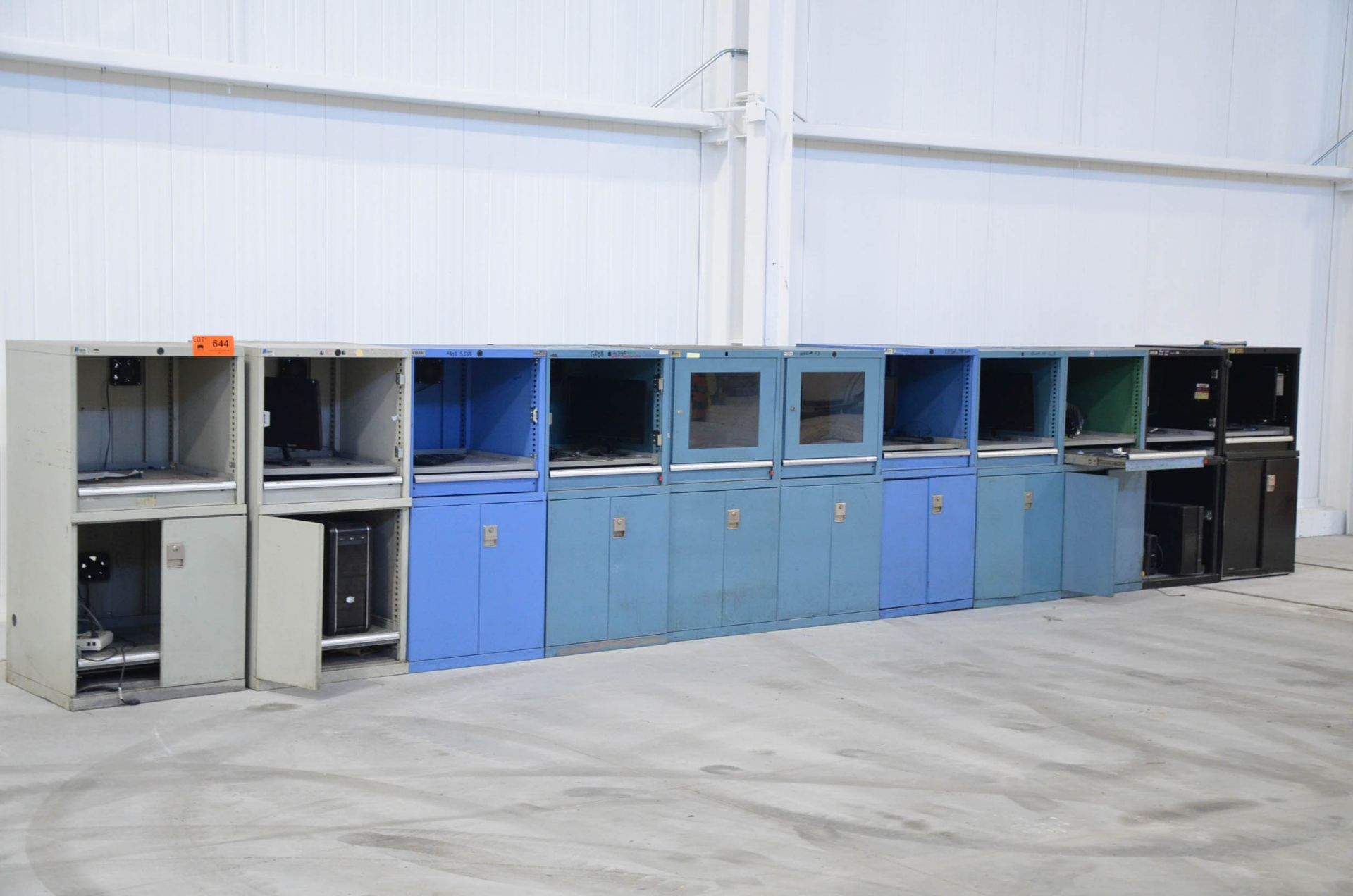 LOT/ COMPUTER CABINETS (PCs NOT INCLUDED)