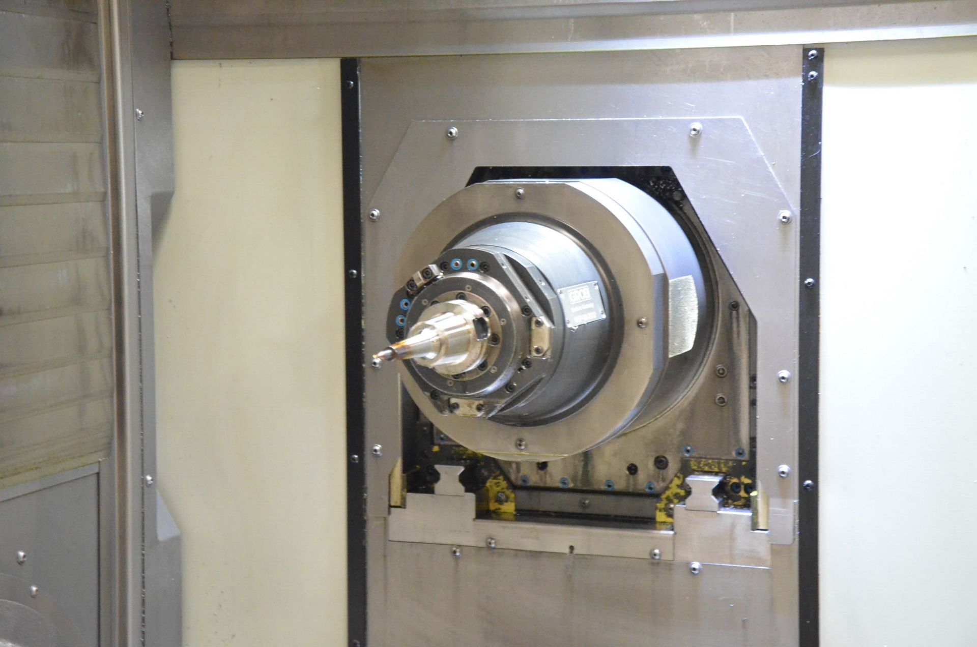 "GROB (2012) G350 5-AXIS CNC MACHINING CENTER WITH HEIDENHAIN ITNC 530 CNC CONTROL, 22.25"" DIAMETER - Image 6 of 12"
