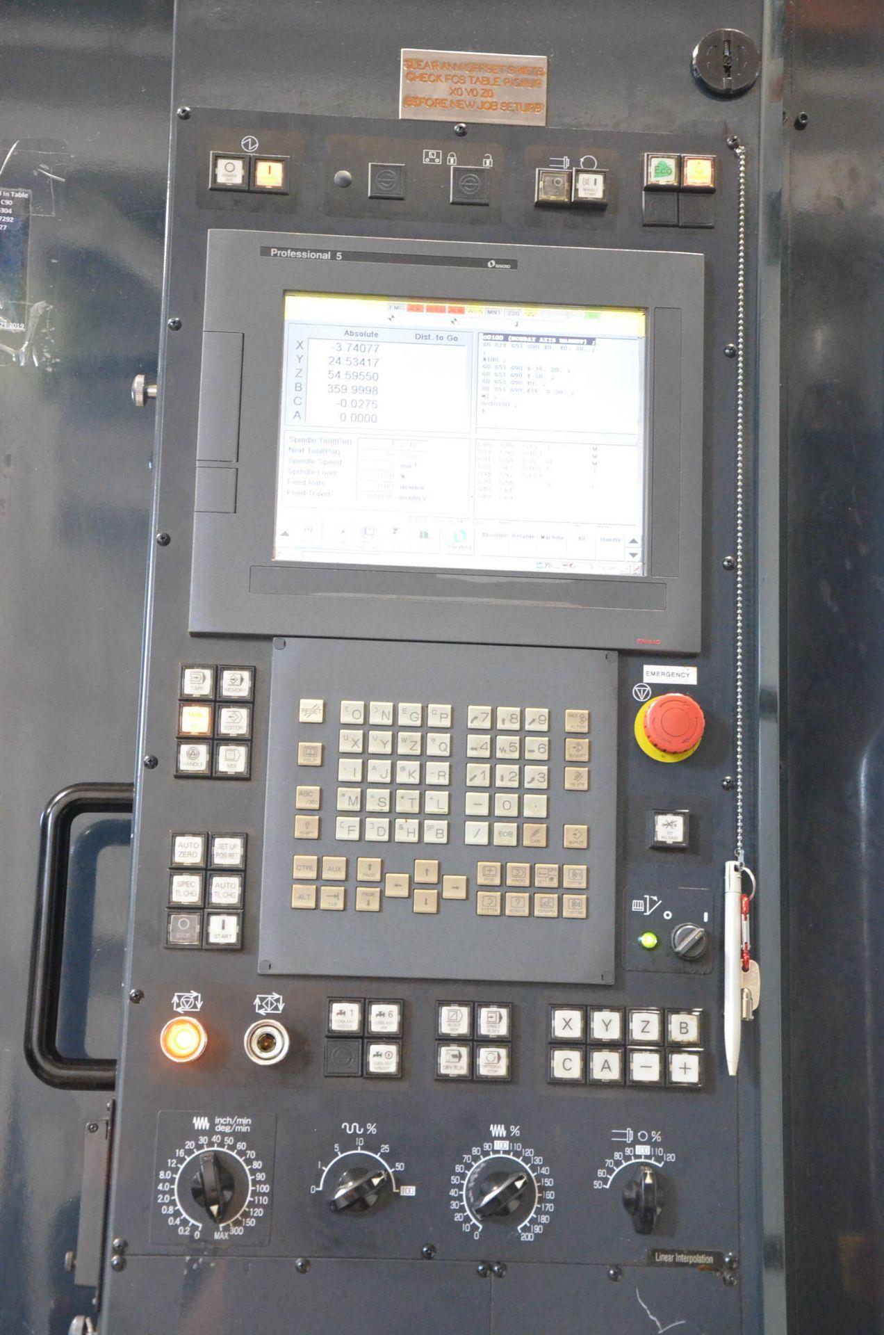 "MAKINO (2013) MCC2013 VG 6-AXIS CNC MACHINING CENTER WITH MAKINO PROFESSIONAL 5 CNC CONTROL, 59"" X - Image 8 of 11"
