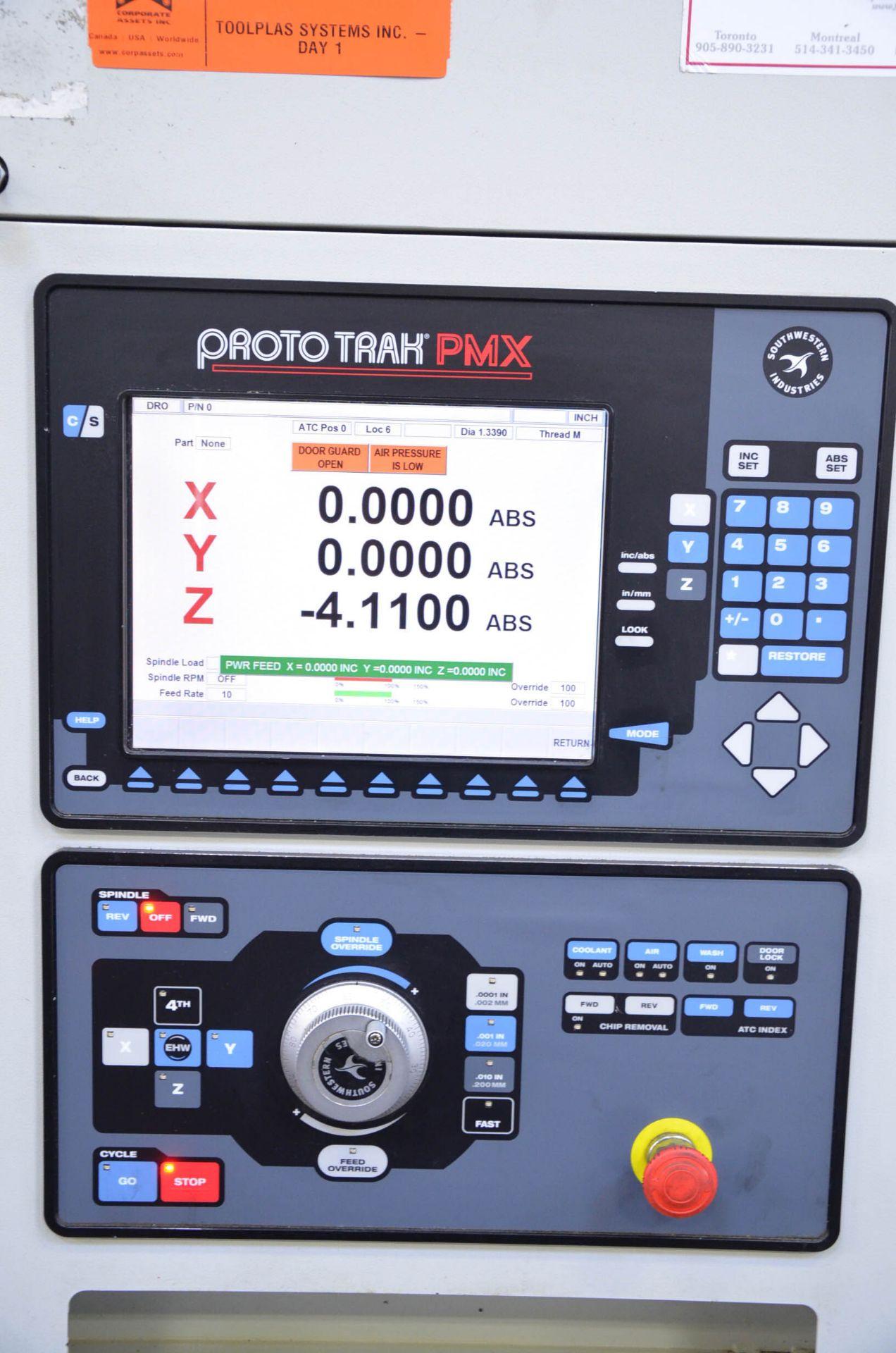 "SWI (2014) TRAK LPM CNC VERTICAL MACHINING CENTER WITH PROTO TRAK PMX CNC CONTROL, 19.5"" X 35.5"" - Image 9 of 9"