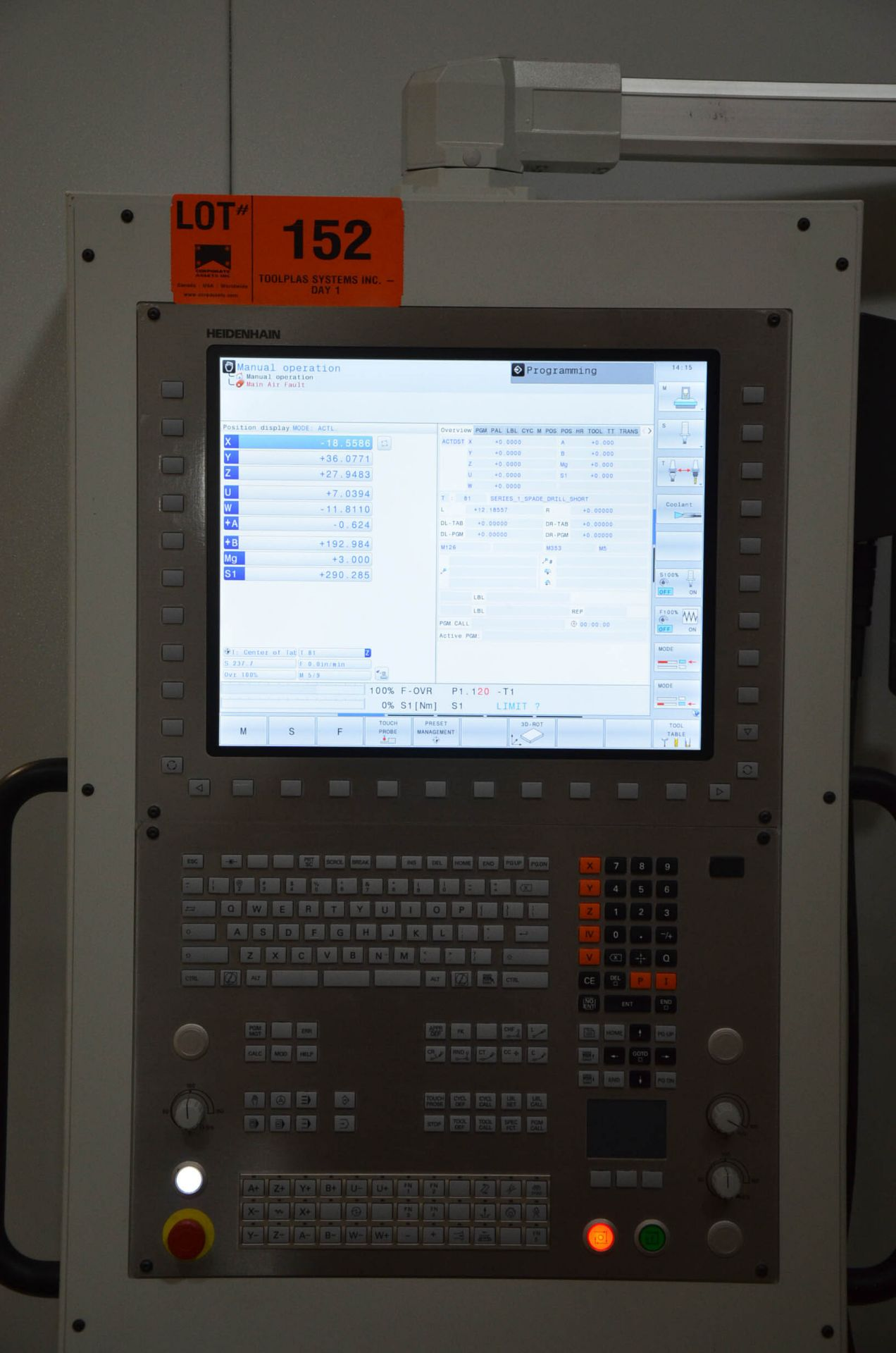 UNISIG (2020) USC-M38 5-AXIS COMBINATION CNC GUN DRILLING AND MILLING MACHINE WITH HEIDENHAIN ITNC - Image 8 of 17