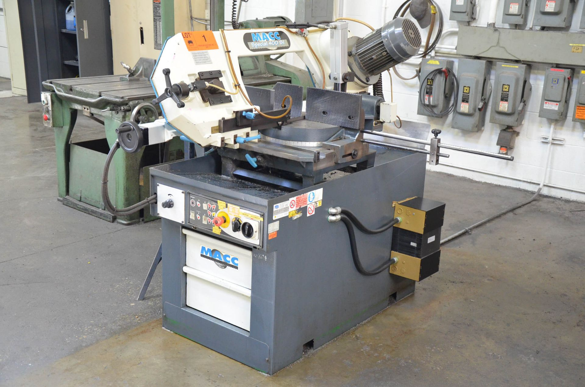 """MACC (2008) SPECIAL 400 SI 16"""" METAL CUTTING HORIZONTAL BAND SAW WITH MITER CAPABILITY, COOLANT, - Image 2 of 6"""