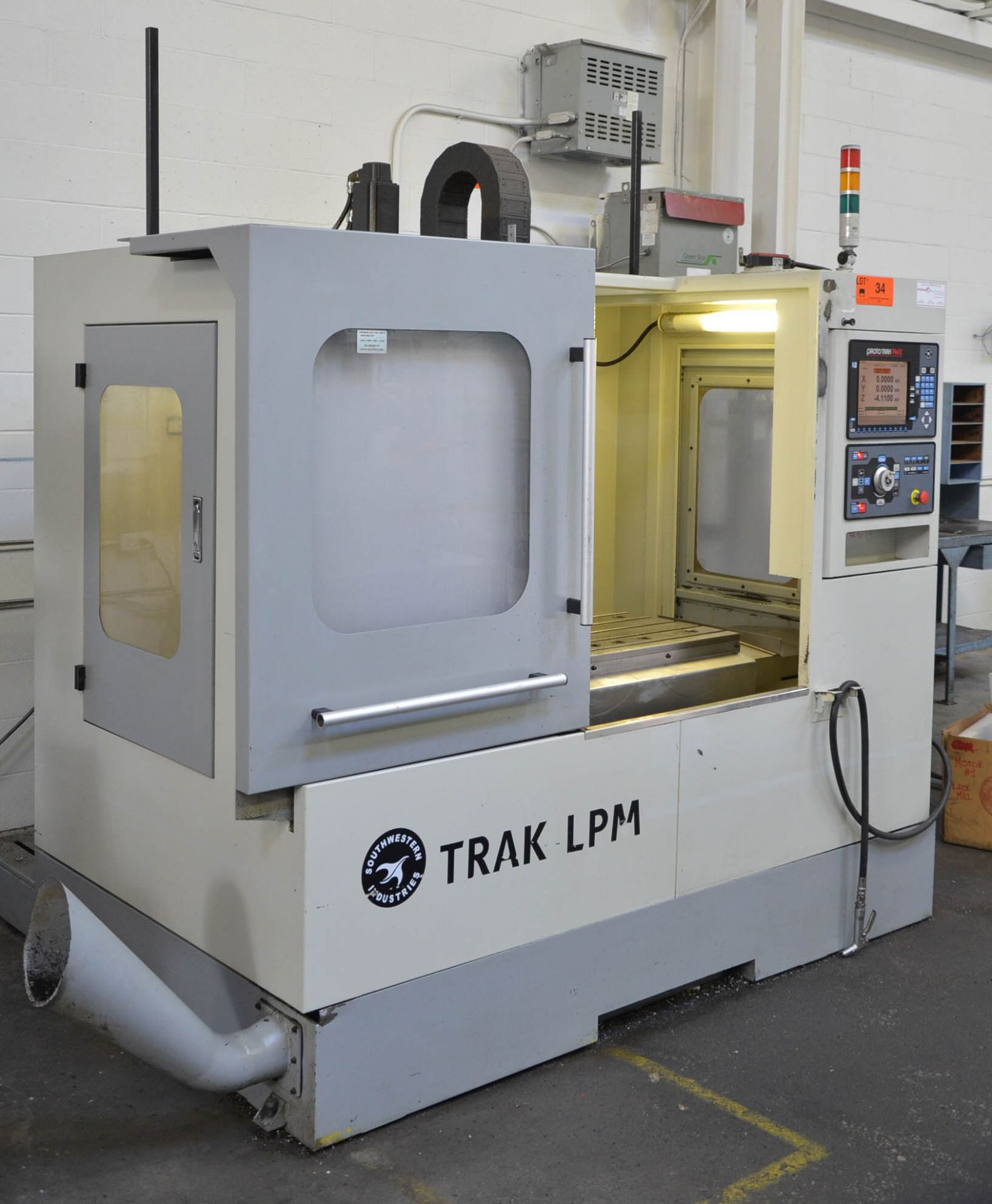 "SWI (2014) TRAK LPM CNC VERTICAL MACHINING CENTER WITH PROTO TRAK PMX CNC CONTROL, 19.5"" X 35.5"" - Image 3 of 9"