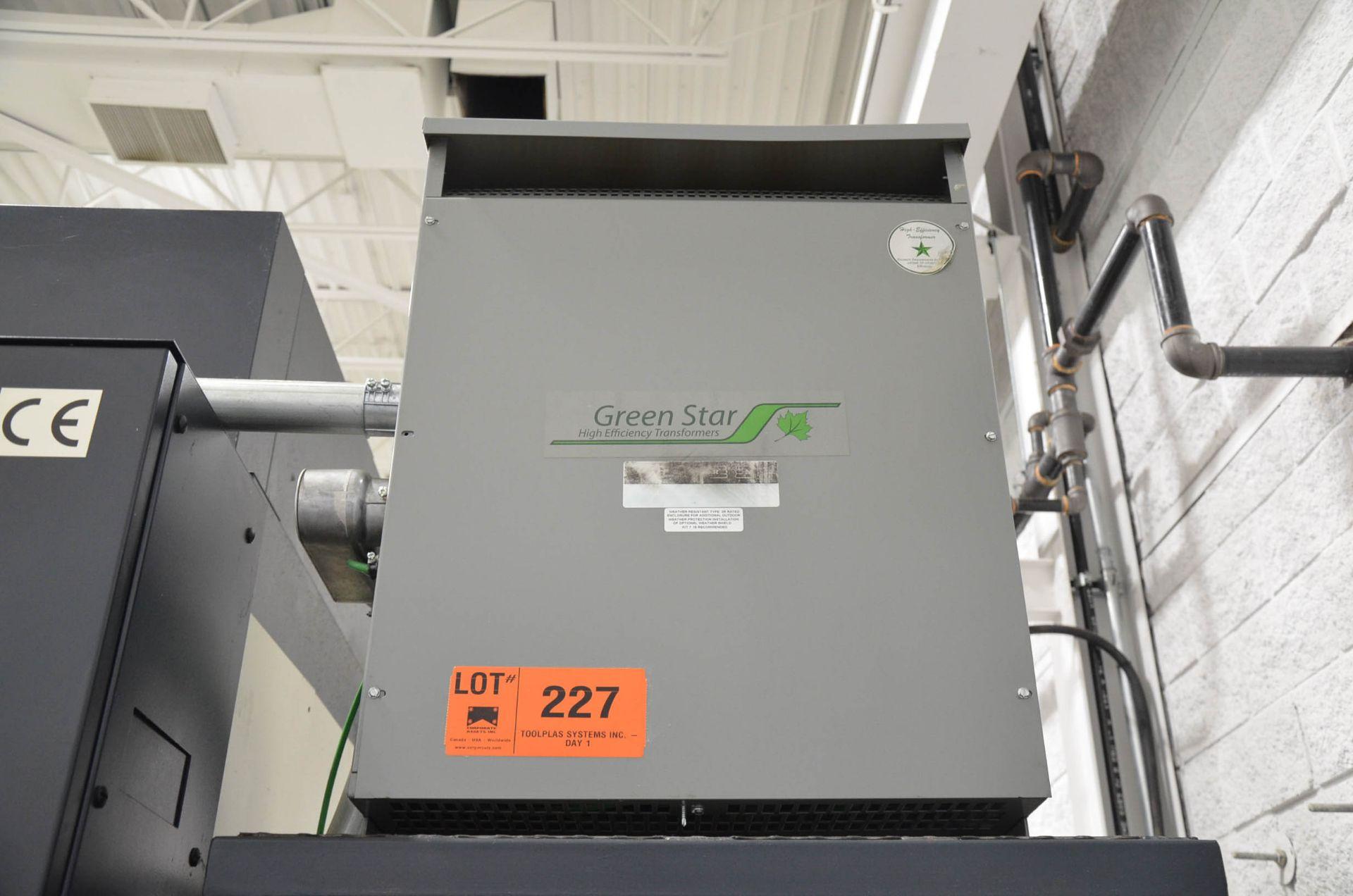REX 75KVA/600-208-120V/3PH/60HZ TRANSFORMER (CI) [RIGGING FEES FOR LOT #227 - $50 USD PLUS