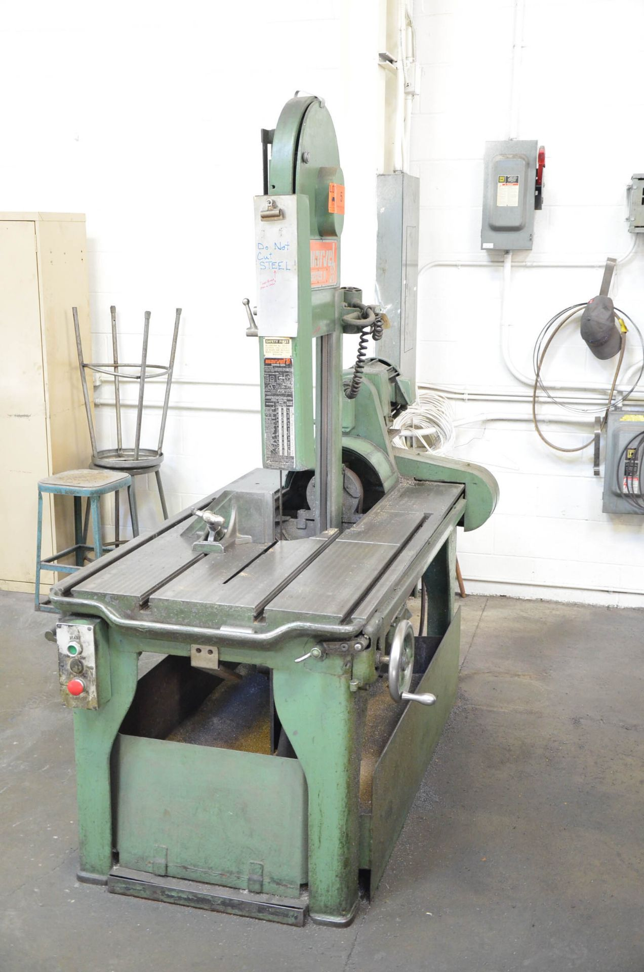 """MARVEL SERIES 8 TILTING HEAD SLIDING FRAME VERTICAL BAND SAW WITH 17"""" THROAT, 12"""" MAX WORKPIECE - Image 2 of 4"""