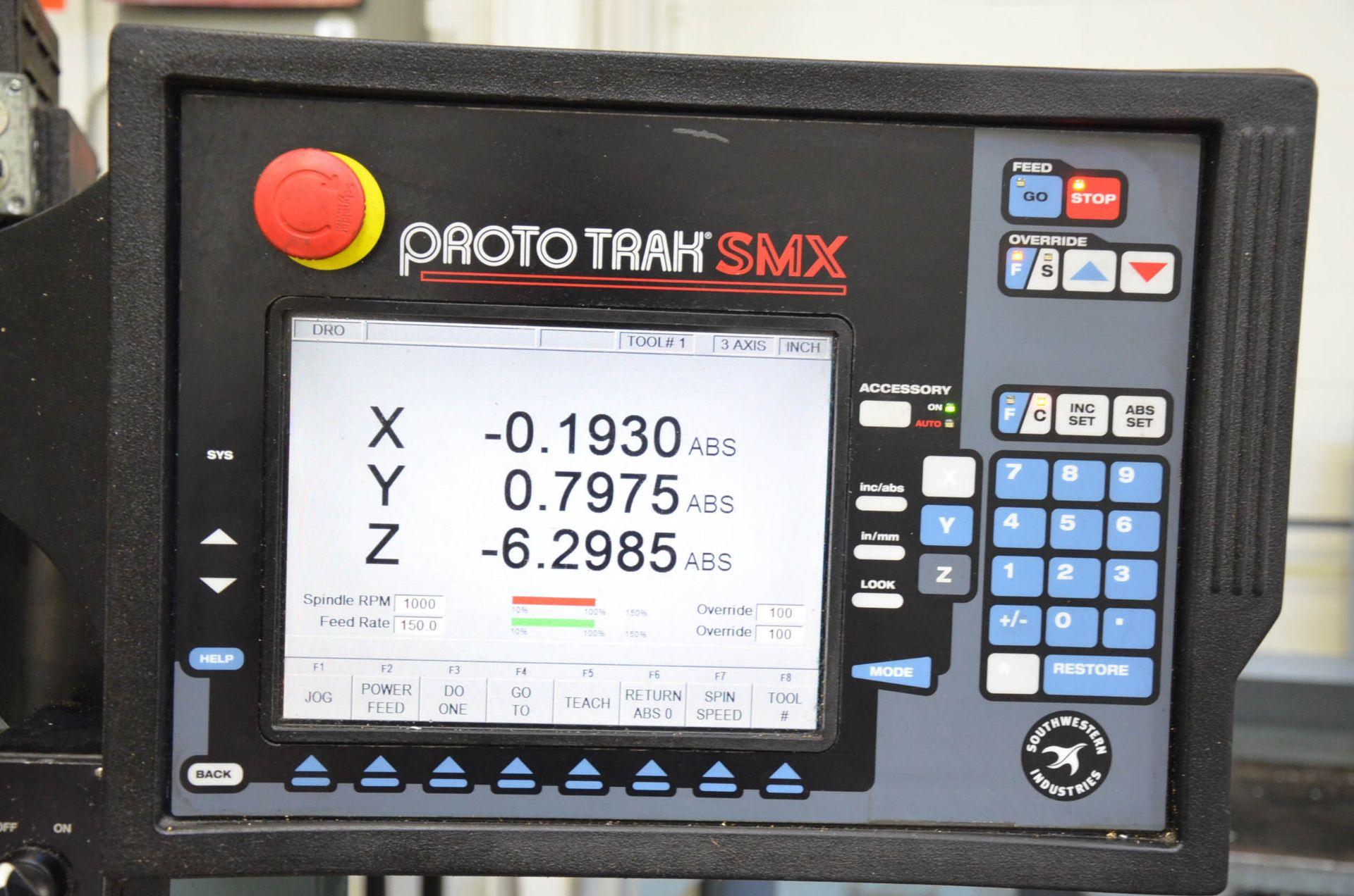 "TRAK DPM3 CNC VERTICAL TURRET MILLING MACHINE WITH PROTO TRAK (2016) SMX CNC CONTROL, 10"" X 50"" - Image 6 of 10"