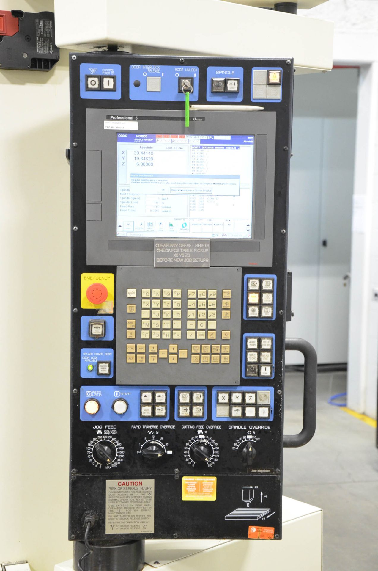 MAKINO (2008) V99L(#50) CNC VERTICAL MACHINING CENTER WITH MAKINO PROFESSIONAL 5 CNC CONTROL, 39. - Image 11 of 12