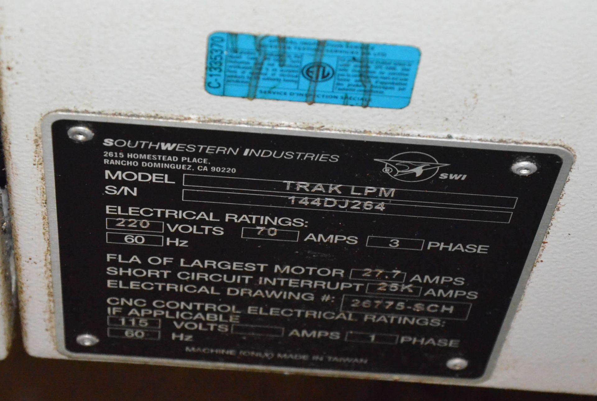 "SWI (2013) TRAK LPM CNC VERTICAL MACHINING CENTER WITH PROTO TRAK PMX CNC CONTROL, 19.5"" X 35.5"" - Image 4 of 9"