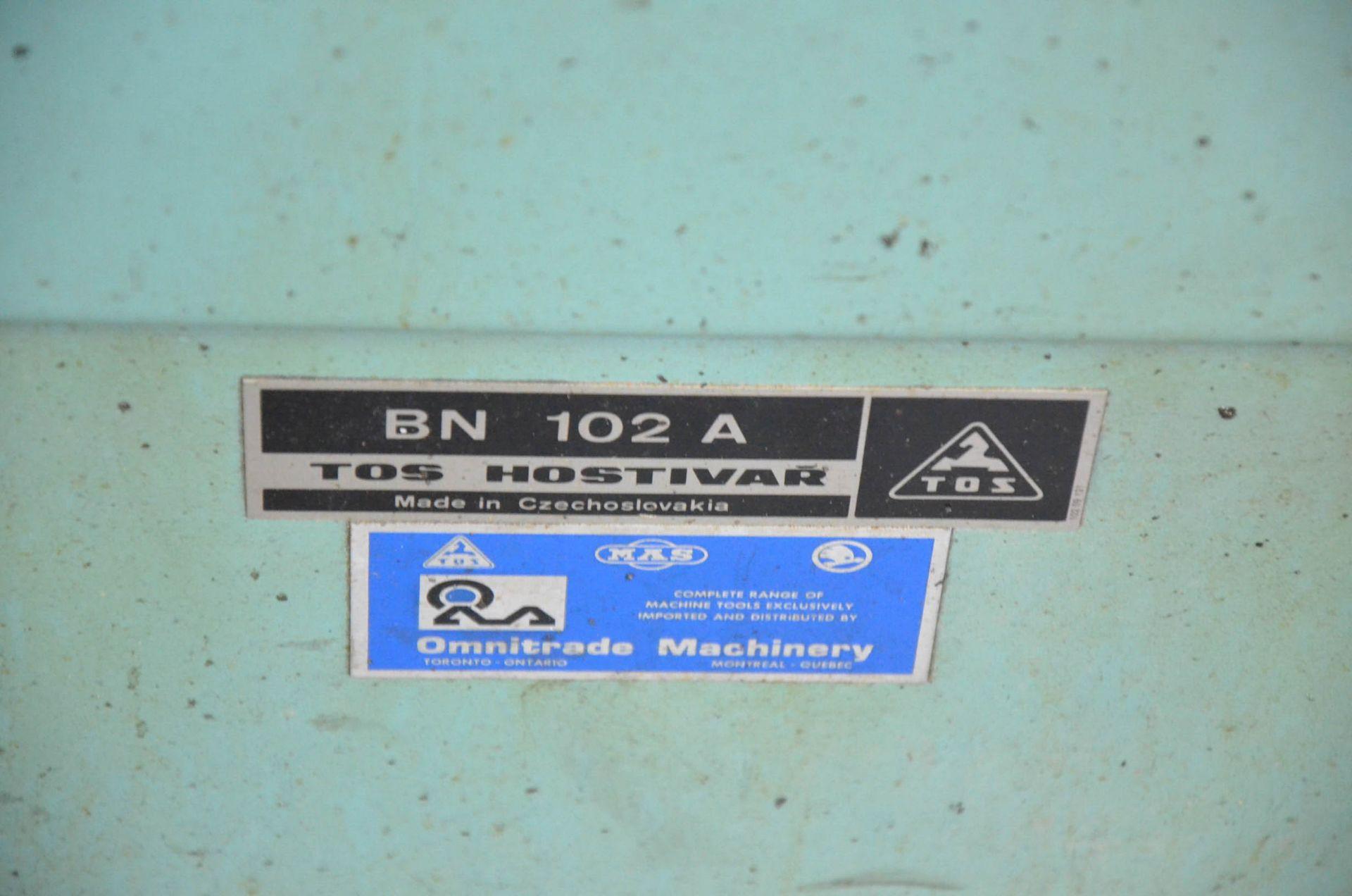TOS HOSTIVAR BN102A FLOOR-TYPE TOOL AND CUTTER GRINDER, 575V/3PH/60HZ, S/N: 789 (CI) [RIGGING FEES - Image 2 of 3