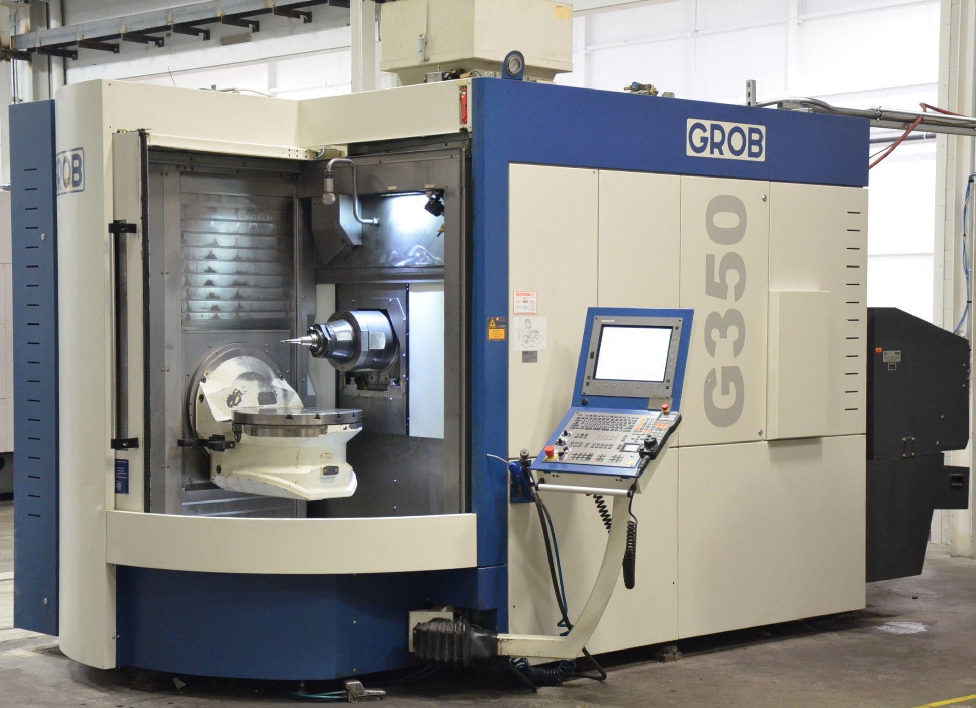 "GROB (2012) G350 5-AXIS CNC MACHINING CENTER WITH HEIDENHAIN ITNC 530 CNC CONTROL, 22.25"" DIAMETER"
