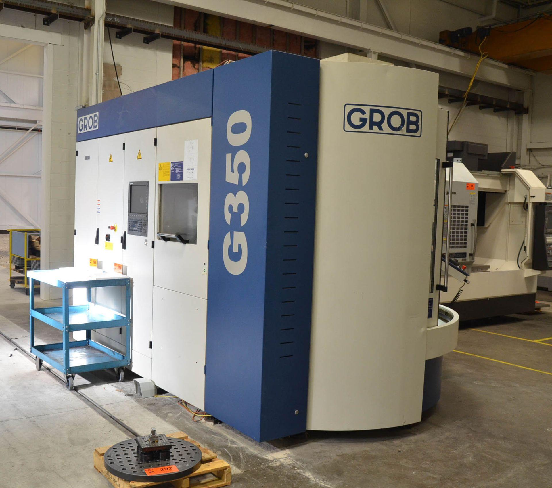 "GROB (2012) G350 5-AXIS CNC MACHINING CENTER WITH HEIDENHAIN ITNC 530 CNC CONTROL, 22.25"" DIAMETER - Image 5 of 12"