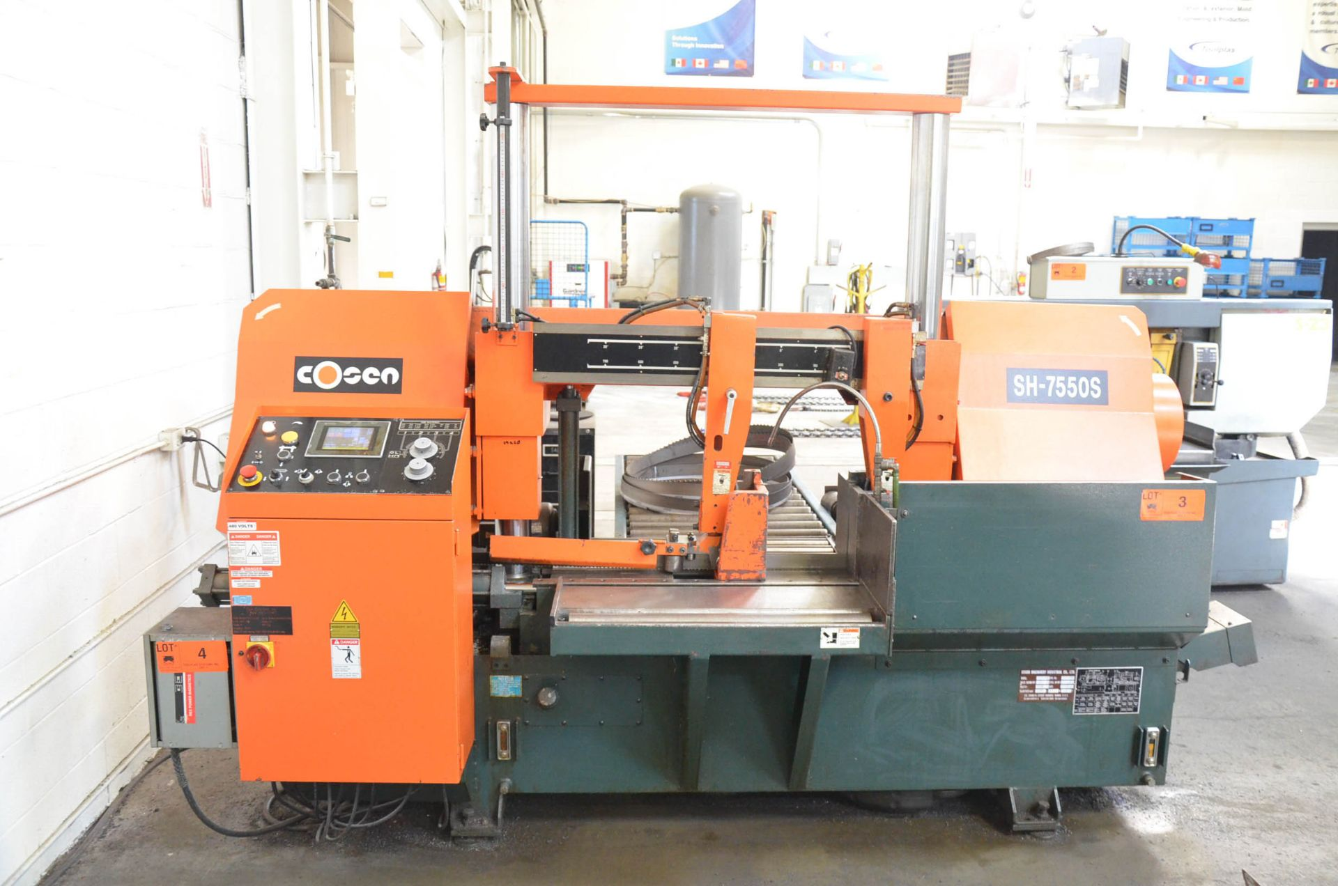 """COSEN (2012) SH-7550S AUTOMATIC DOUBLE COLUMN HORIZONTAL BAND SAW WITH 28"""" CAPACITY, HITECH TOUCH - Image 2 of 7"""