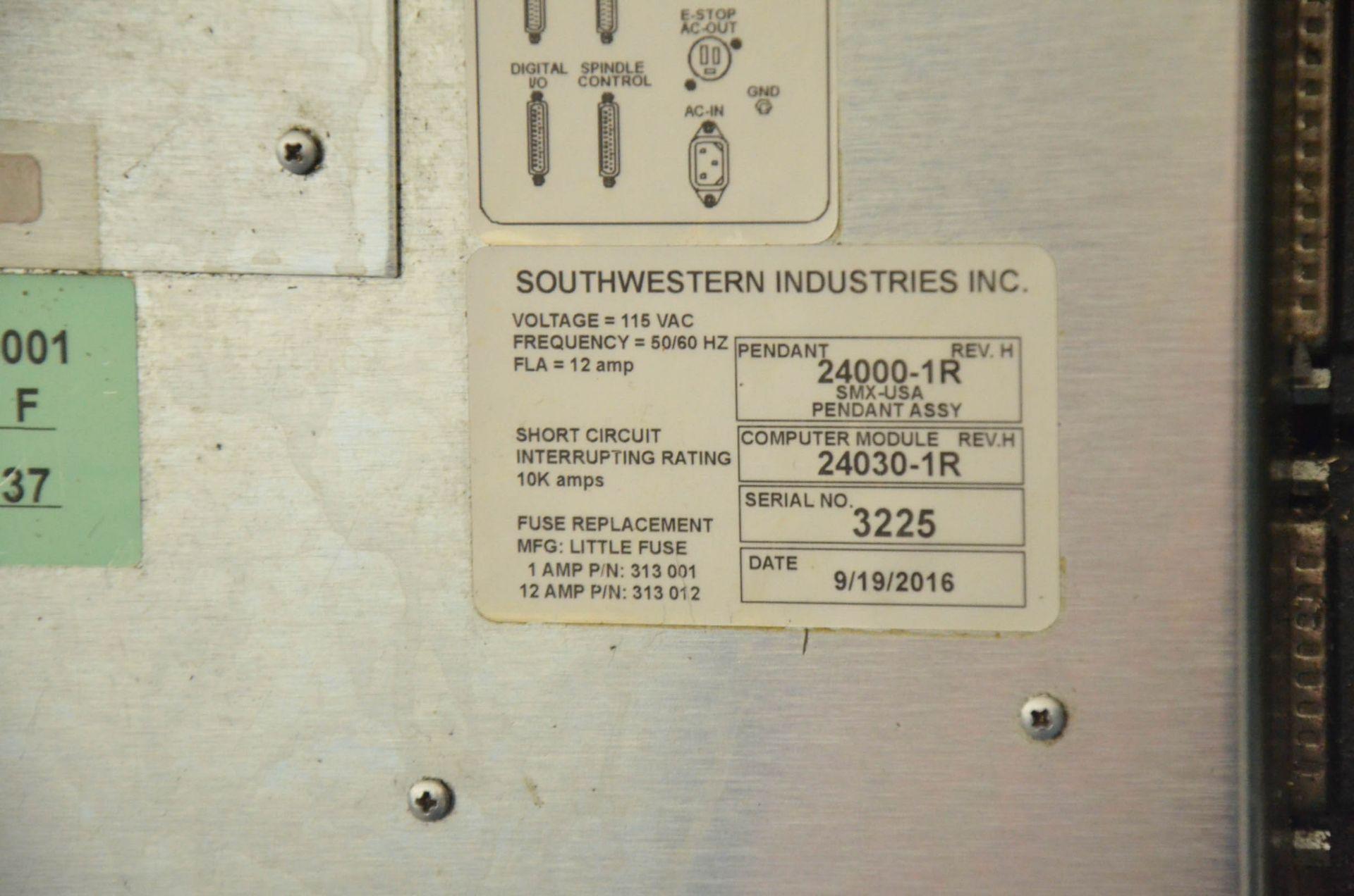 "TRAK DPM3 CNC VERTICAL TURRET MILLING MACHINE WITH PROTO TRAK (2016) SMX CNC CONTROL, 10"" X 50"" - Image 7 of 10"