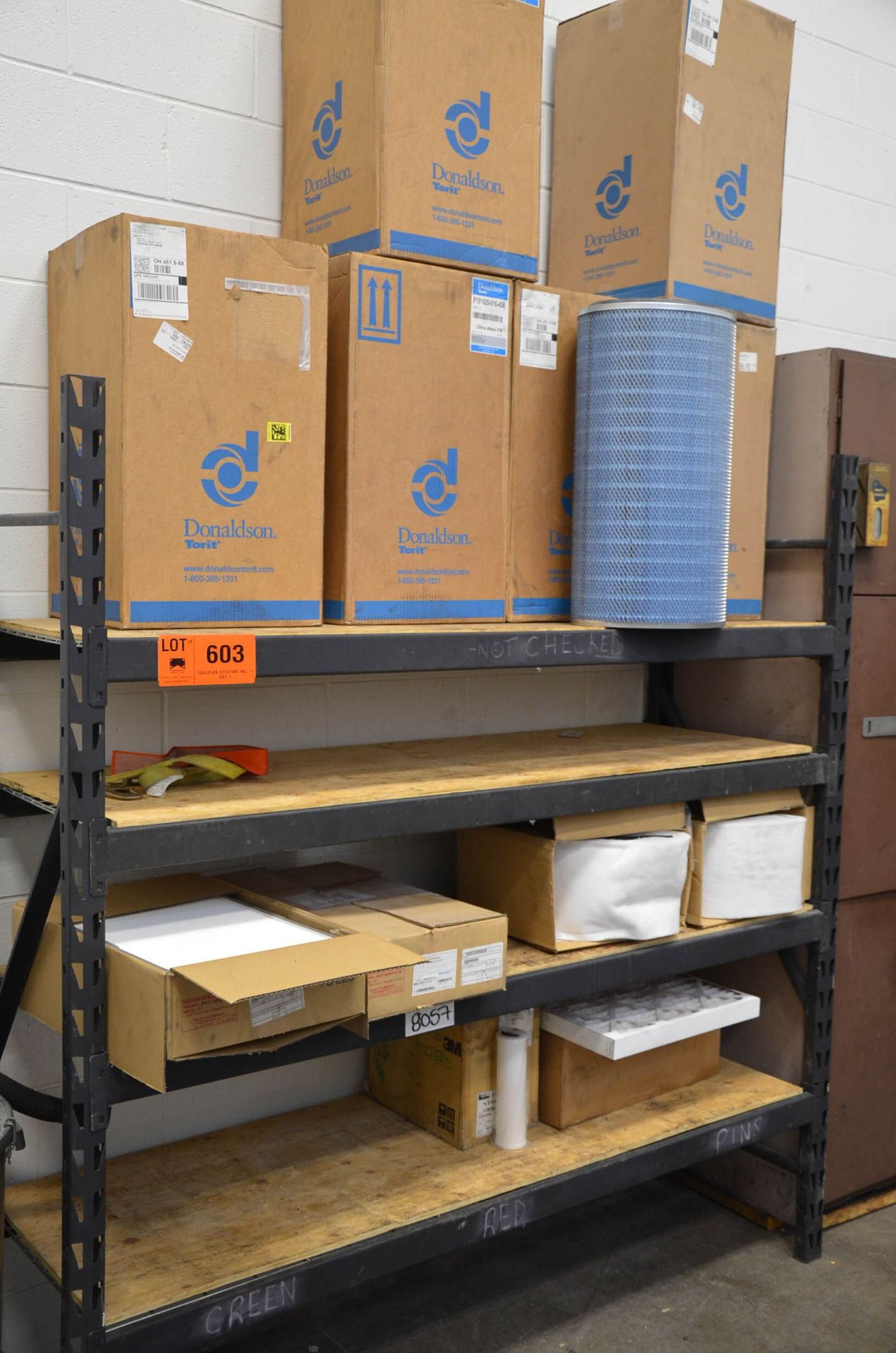 LOT/ RACK AND CONTENTS - SPARE PARTS AND COMPONENTS